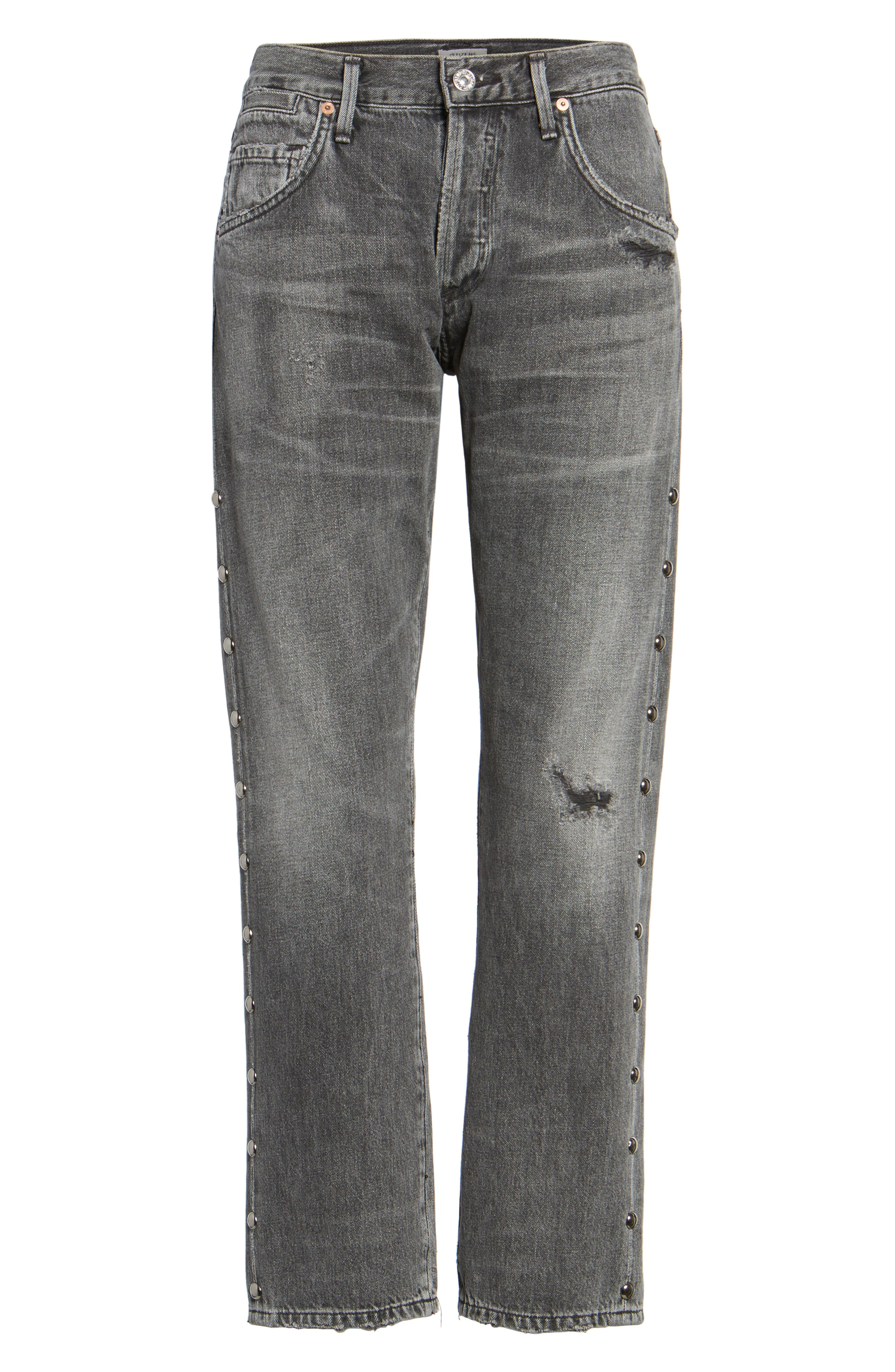 Alternate Image 6  - Citizens of Humanity Emerson Studded Slim Boyfriend Jeans (Studded Hideout)