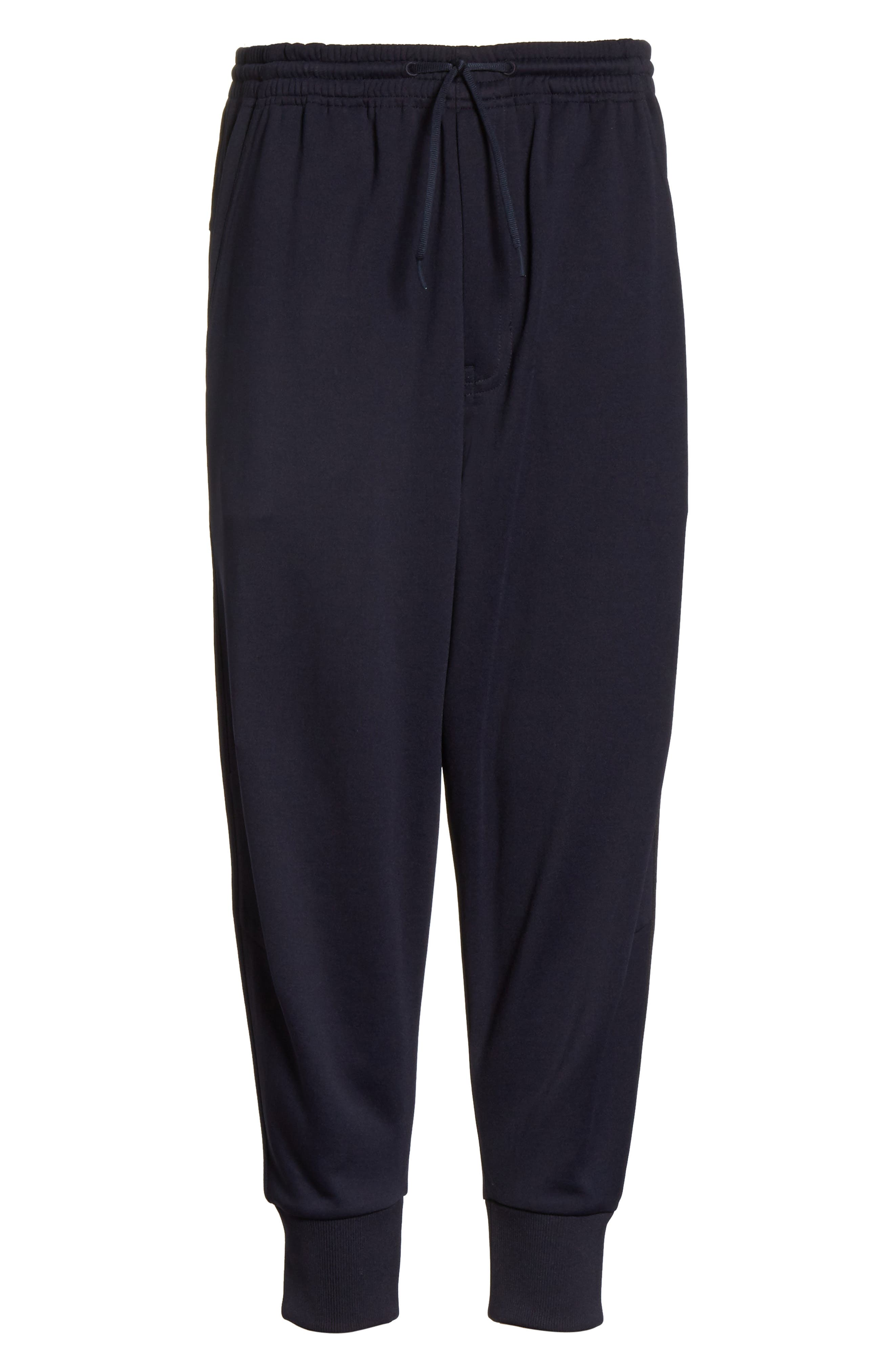 x adidas Cropped Track Pants,                             Alternate thumbnail 7, color,                             Navy