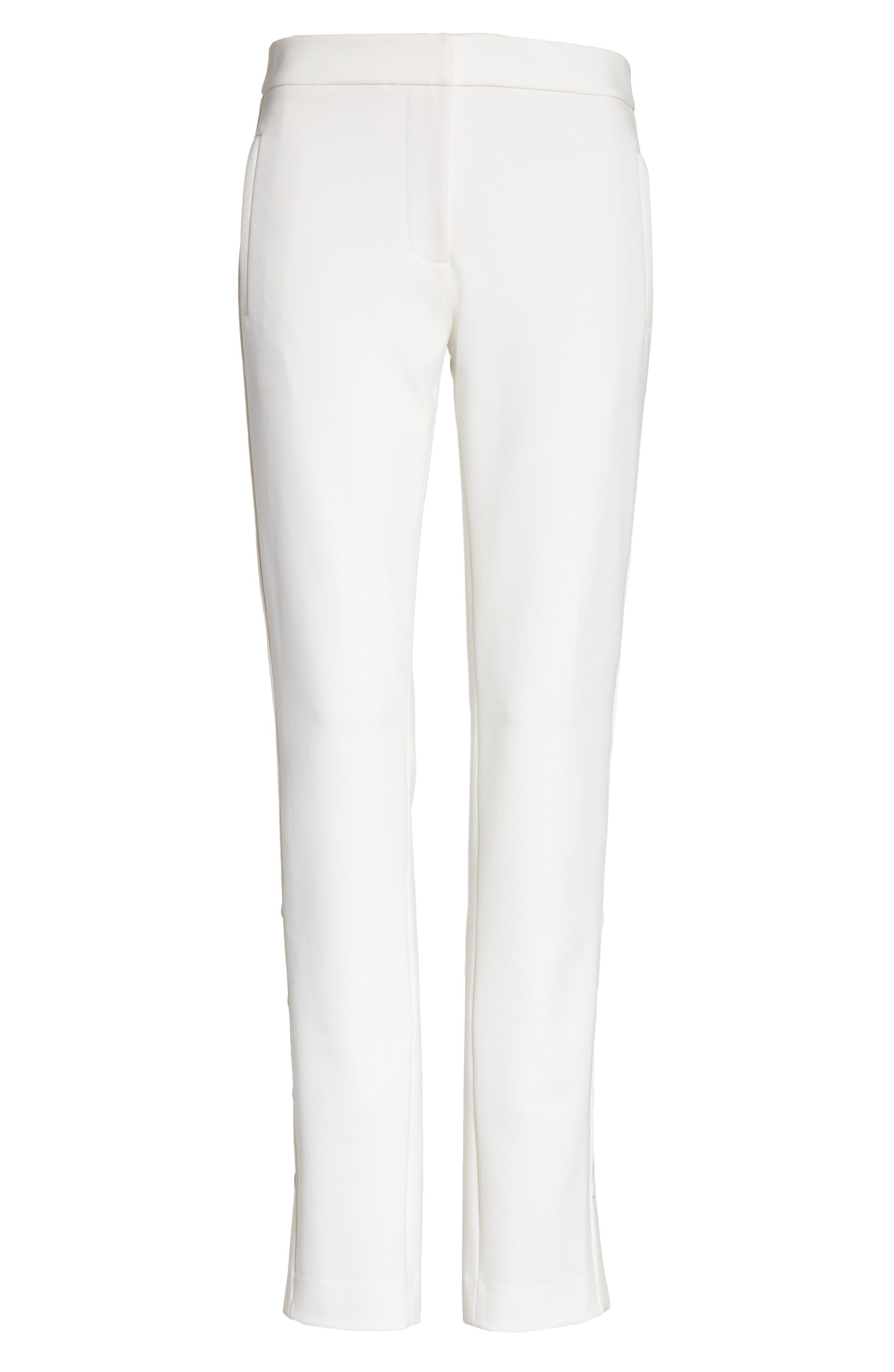 Anson Snap Side Skinny Pants,                             Alternate thumbnail 6, color,                             Ivory