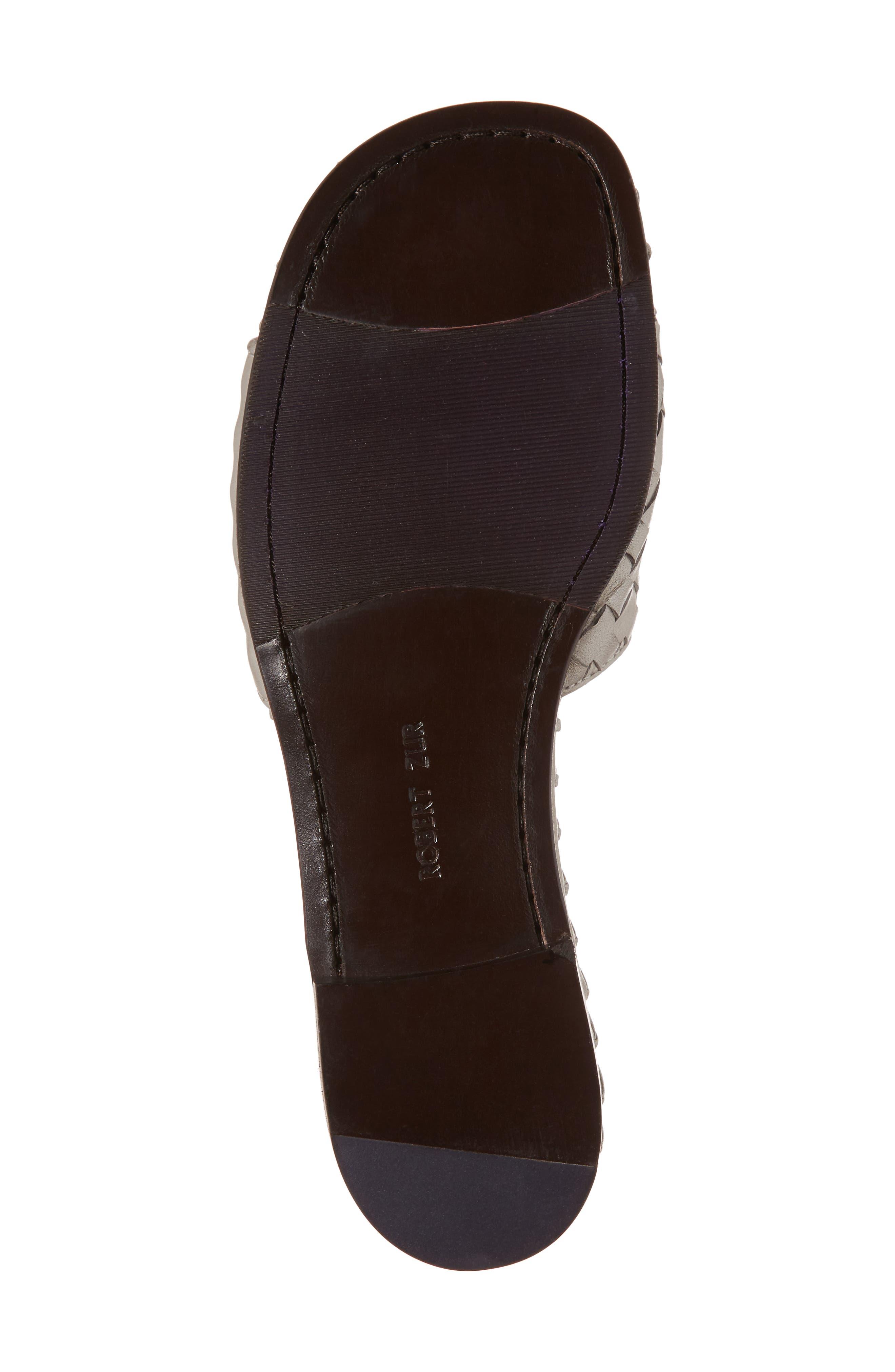 Matilda Woven Slide Sandal,                             Alternate thumbnail 6, color,                             Silver