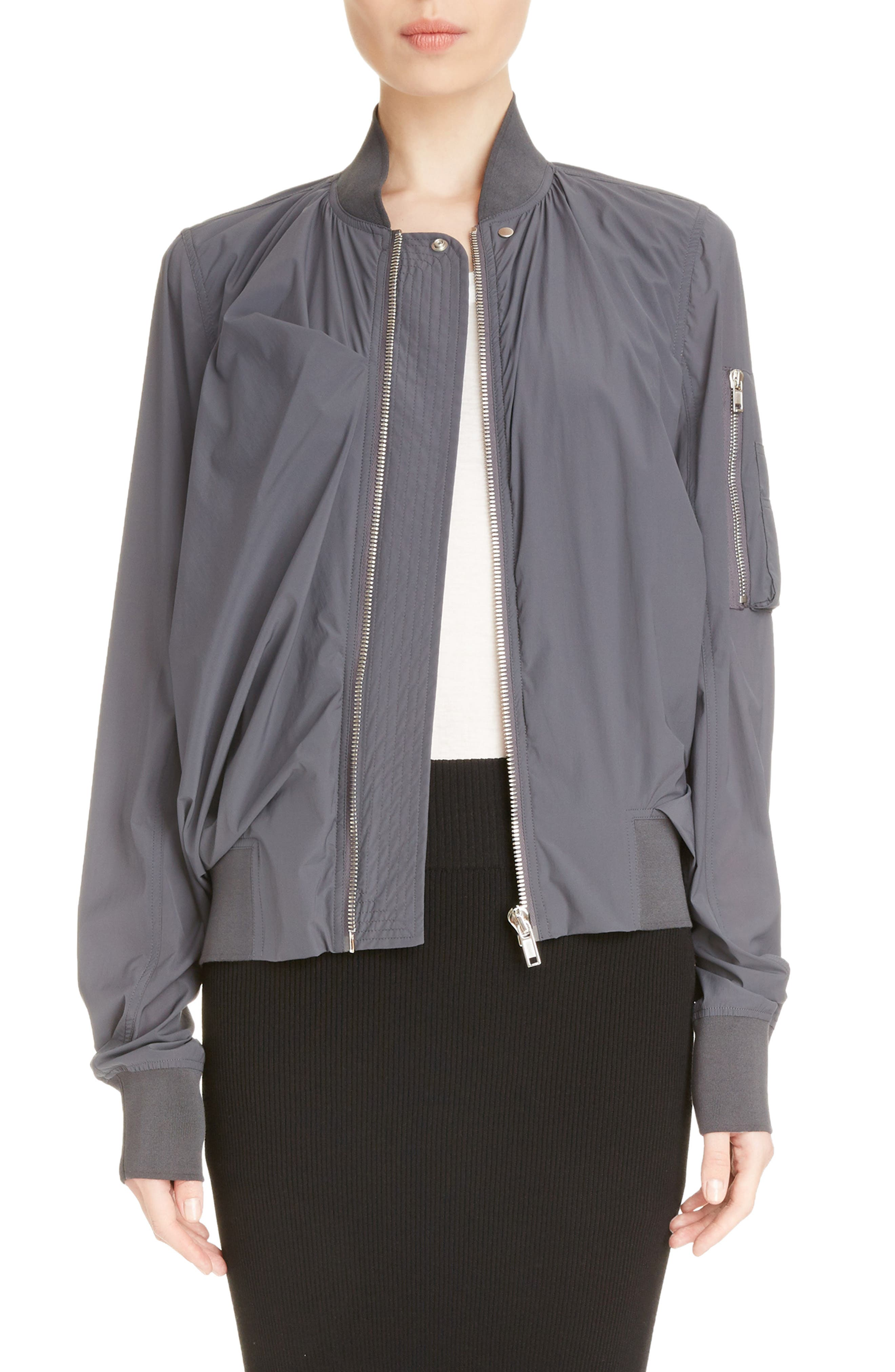Swoop Back Bomber,                             Main thumbnail 1, color,                             Iron