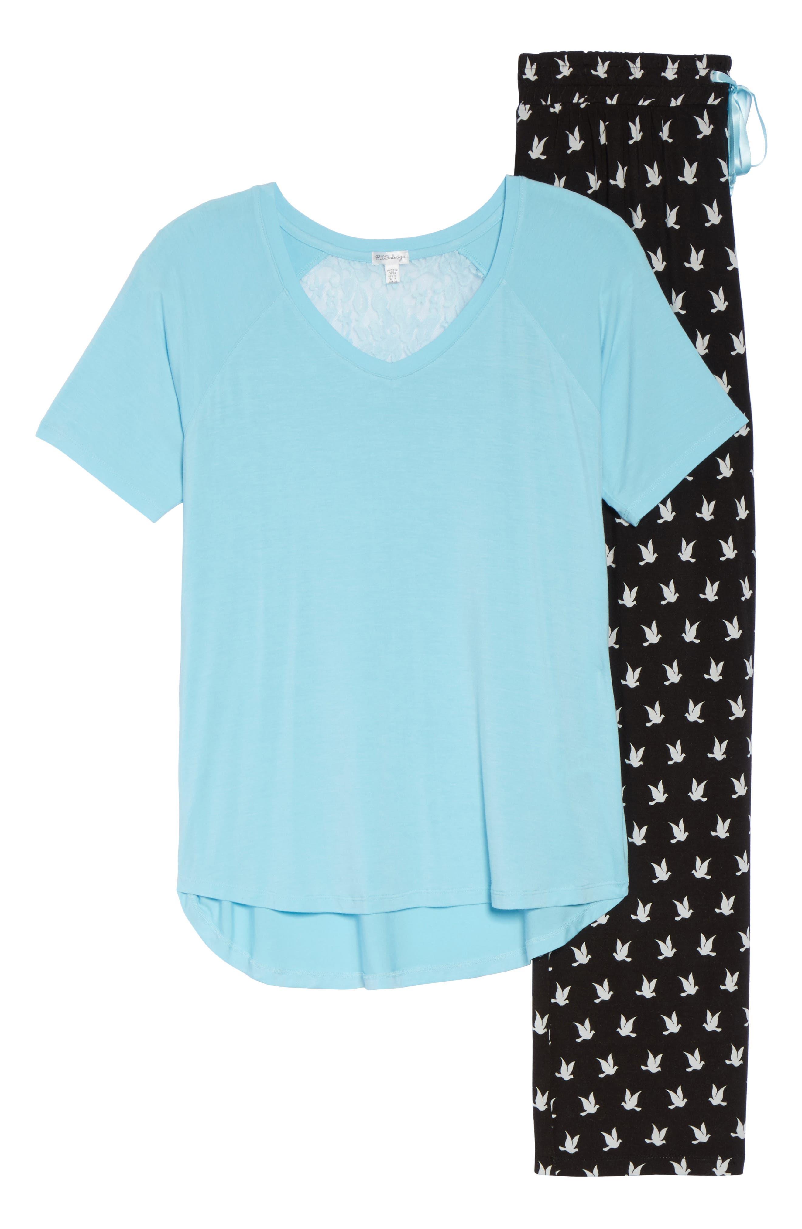 Pajamas,                             Alternate thumbnail 6, color,                             Black