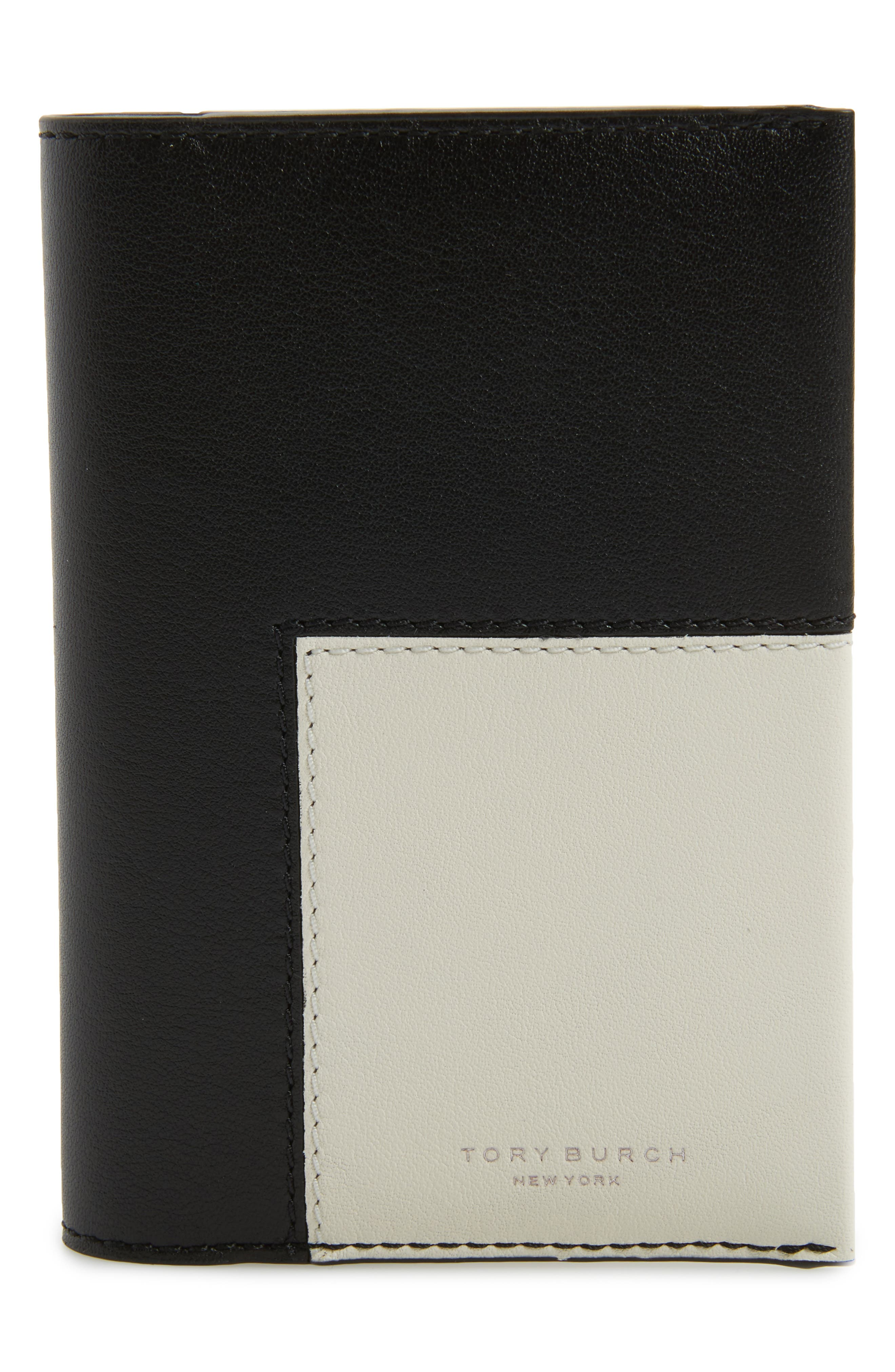 Tory Burch Block-T Logo Leather Passport Holder