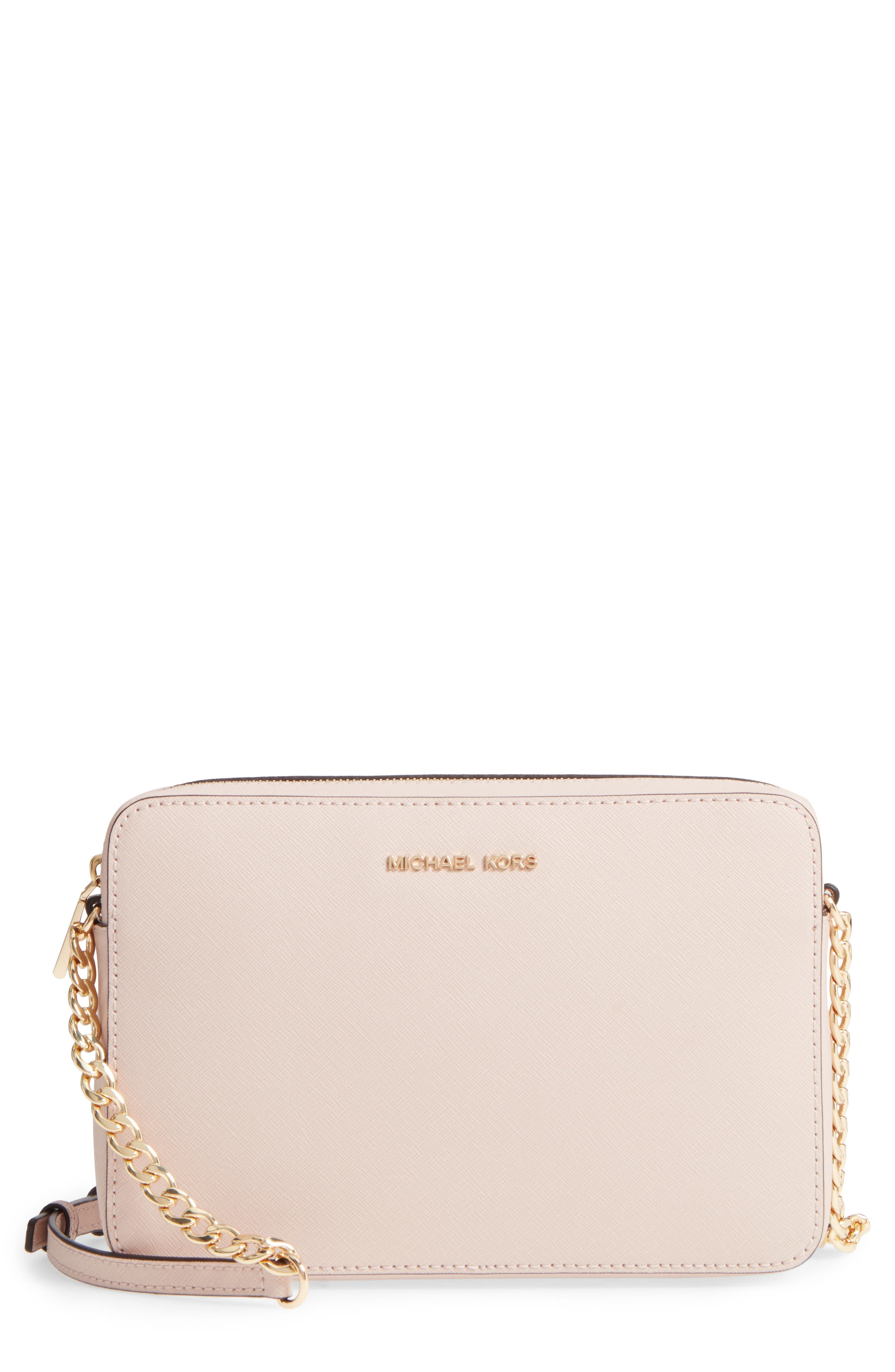 Main Image - MICHAEL Michael Kors 'Large Jet Set' East/West Saffiano Crossbody Bag