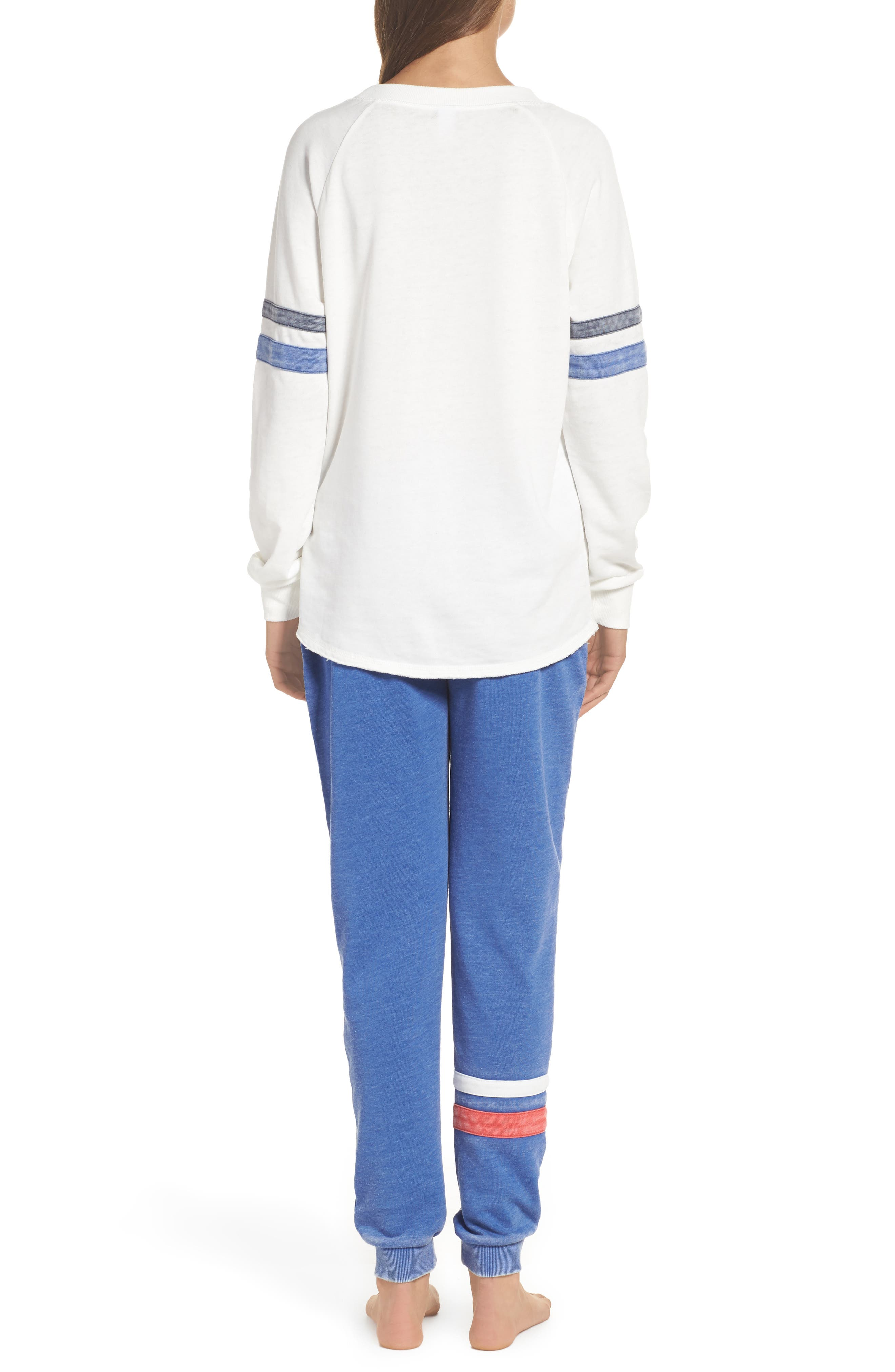 Lazy Day Sweatshirt,                             Alternate thumbnail 2, color,                             Ivory/ Dark Navy/ Pacific Blue