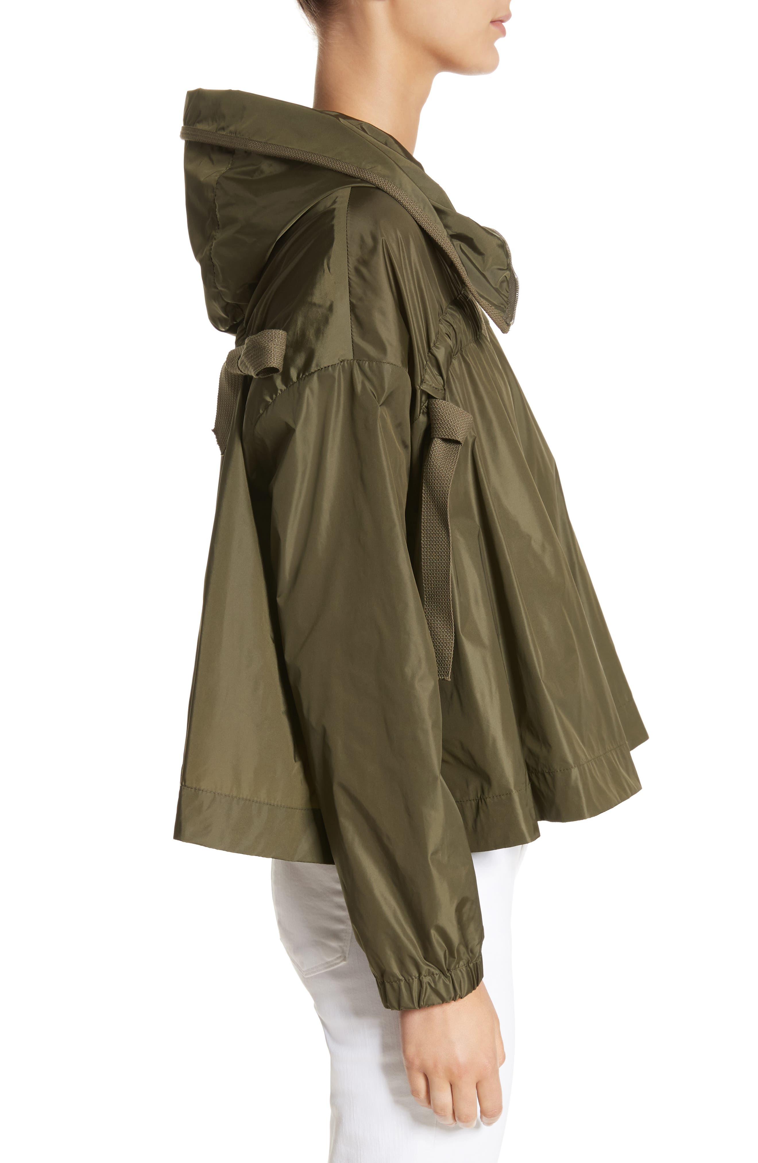Lune Water Resistant Swing Jacket,                             Alternate thumbnail 4, color,                             Olive