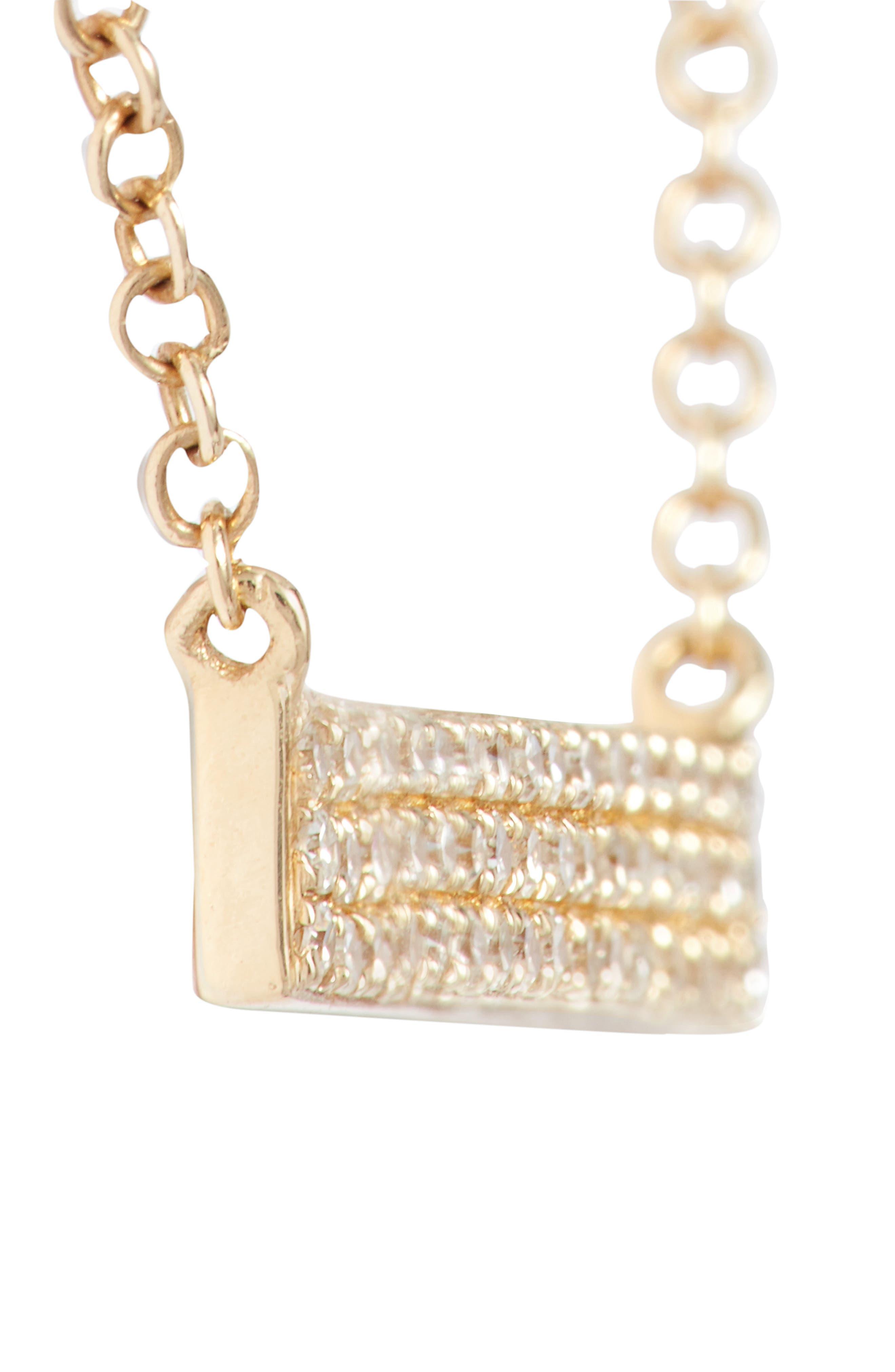 Alternate Image 3  - EF COLLECTION Mini Diamond Pendant Necklace