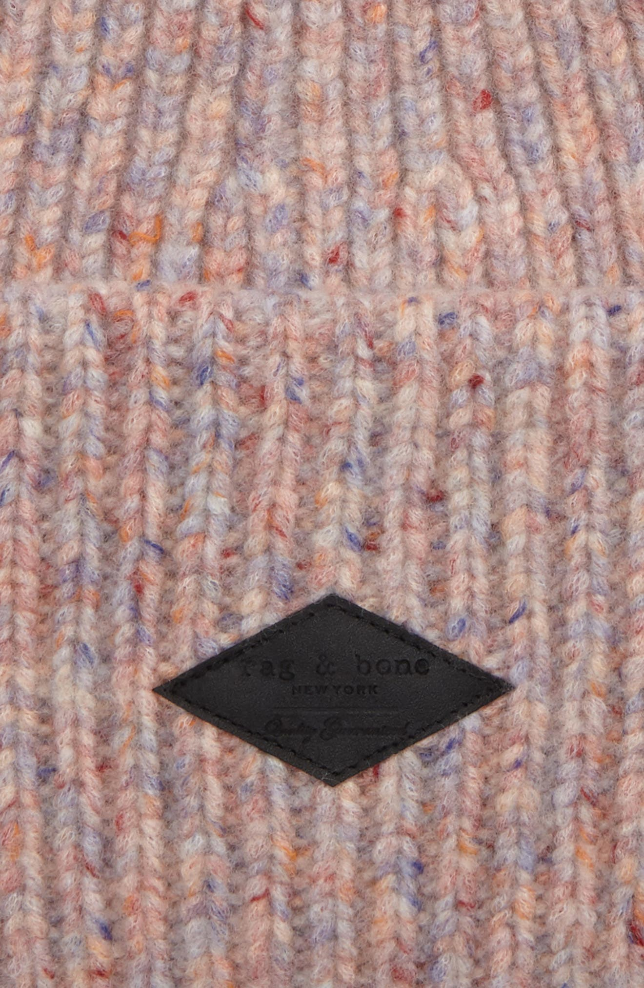 Devin Wool Blend Slouch Beanie,                             Alternate thumbnail 2, color,                             Pink Multi