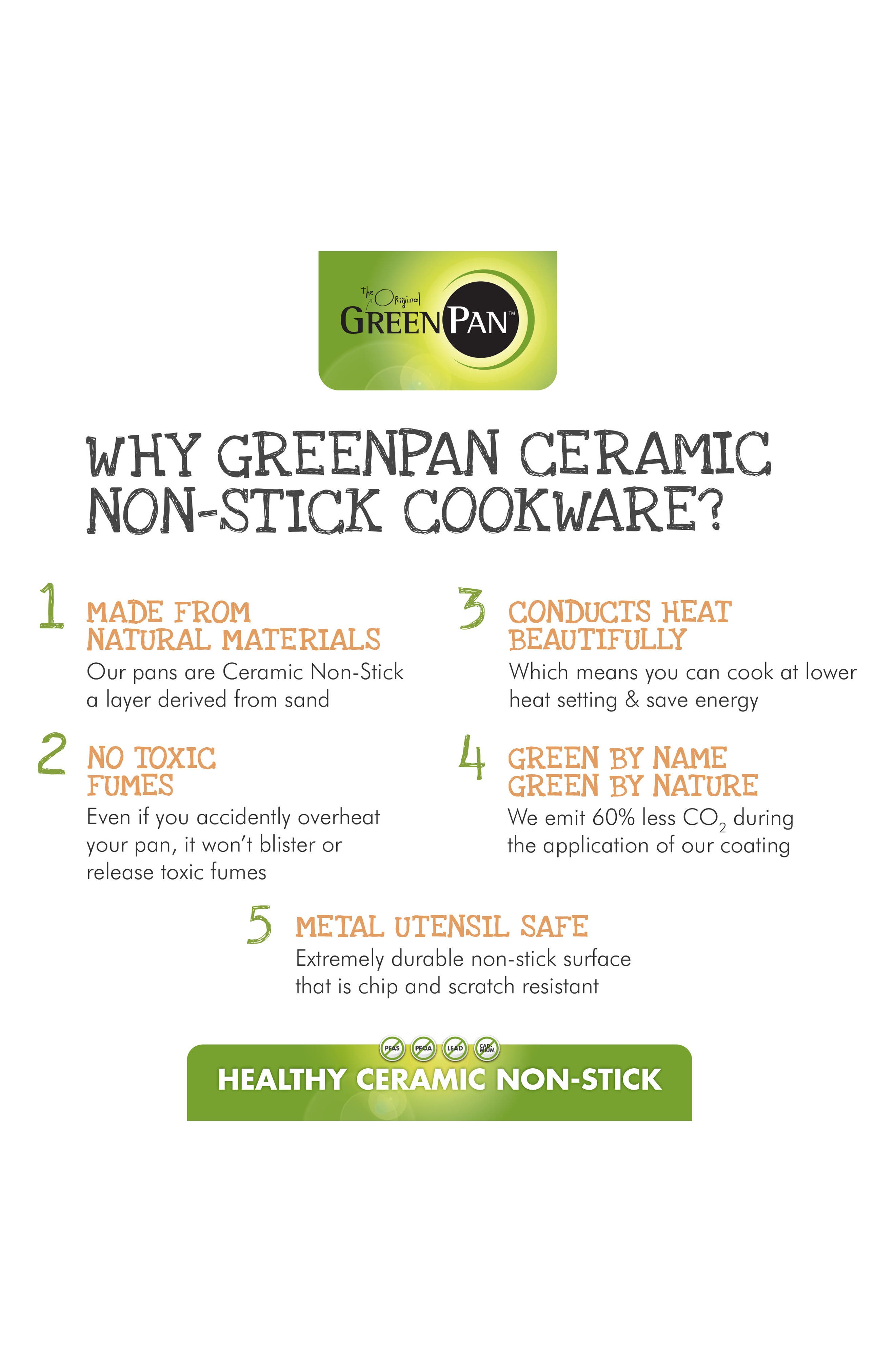 Alternate Image 2  - GreenPan Venice Pro 3 1/2-Quart Multilayer Stainless Steel Ceramic Nonstick Chef's Pan with Glass Lid
