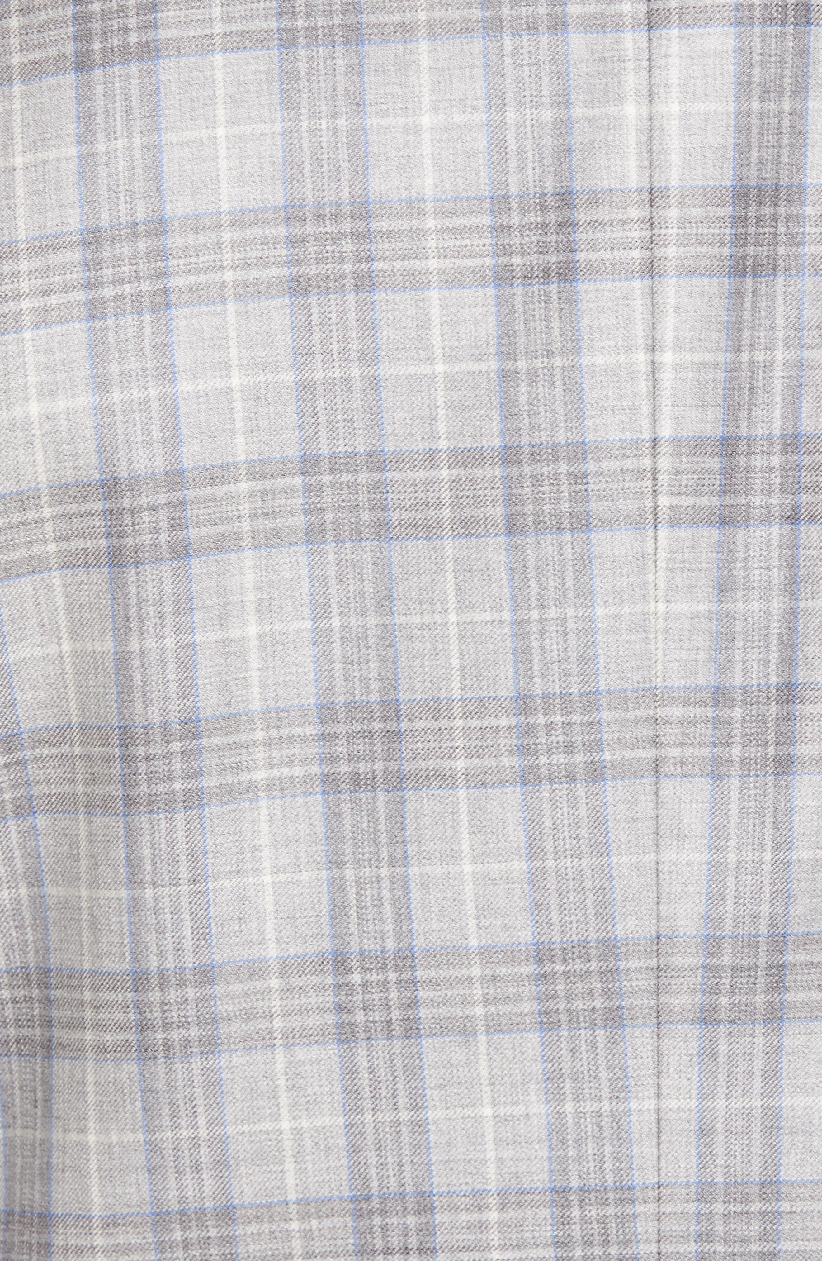 Alternate Image 5  - Ted Baker London Jay Trim Fit Plaid Wool Sport Coat
