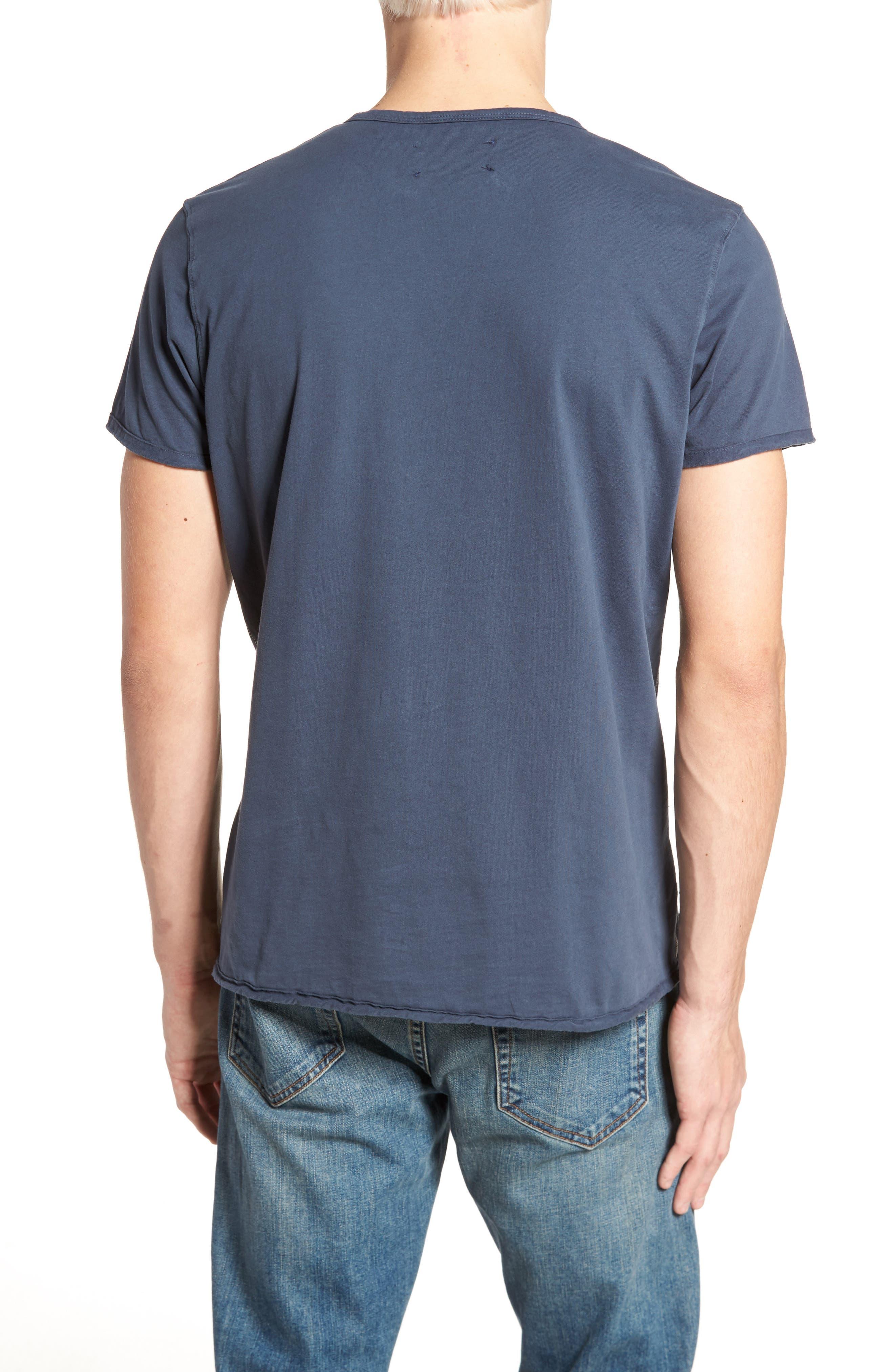 Notch Henley T-Shirt,                             Alternate thumbnail 2, color,                             Vintage Navy