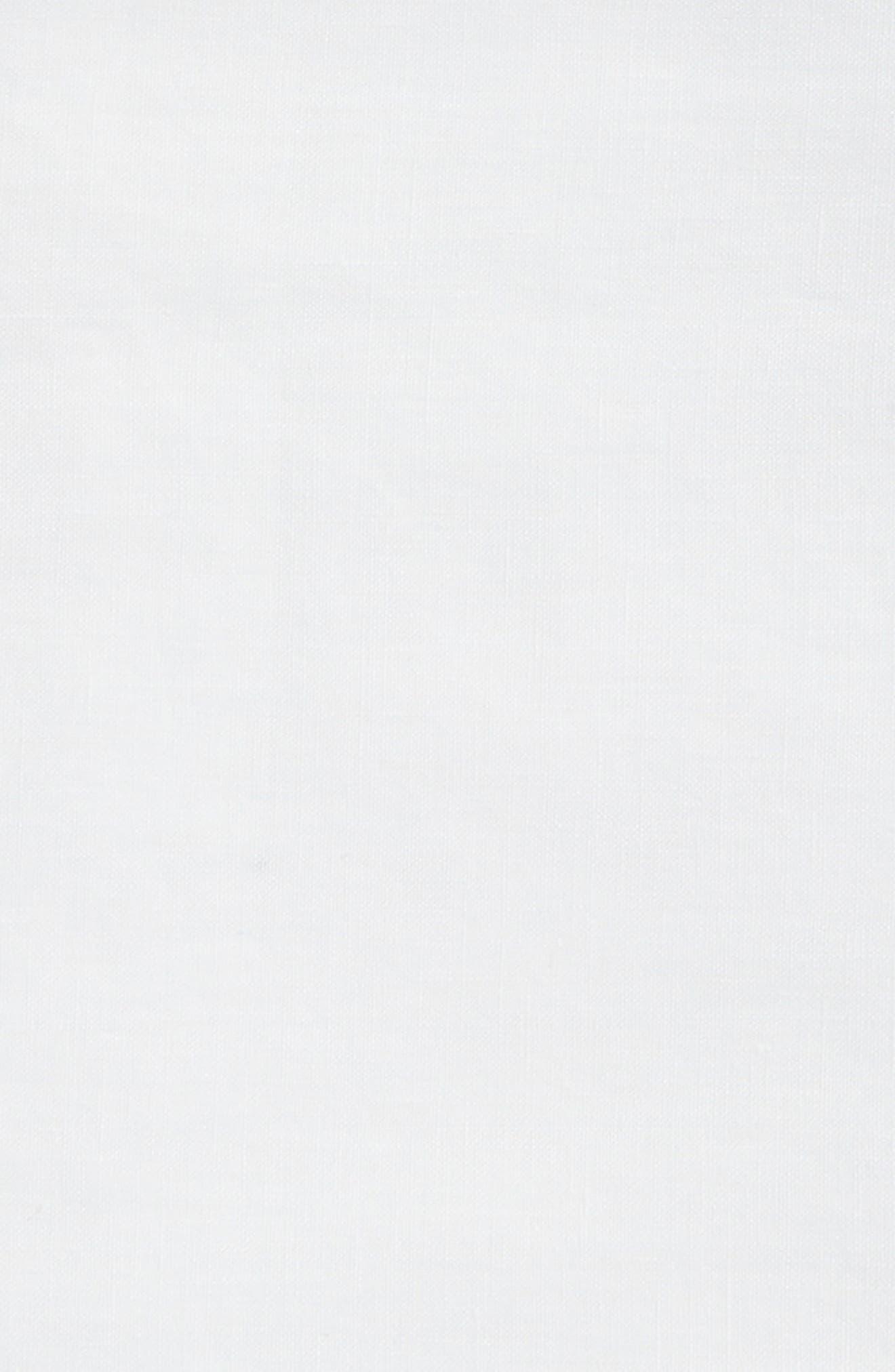 Round Linen Tablecloth,                             Alternate thumbnail 2, color,                             White