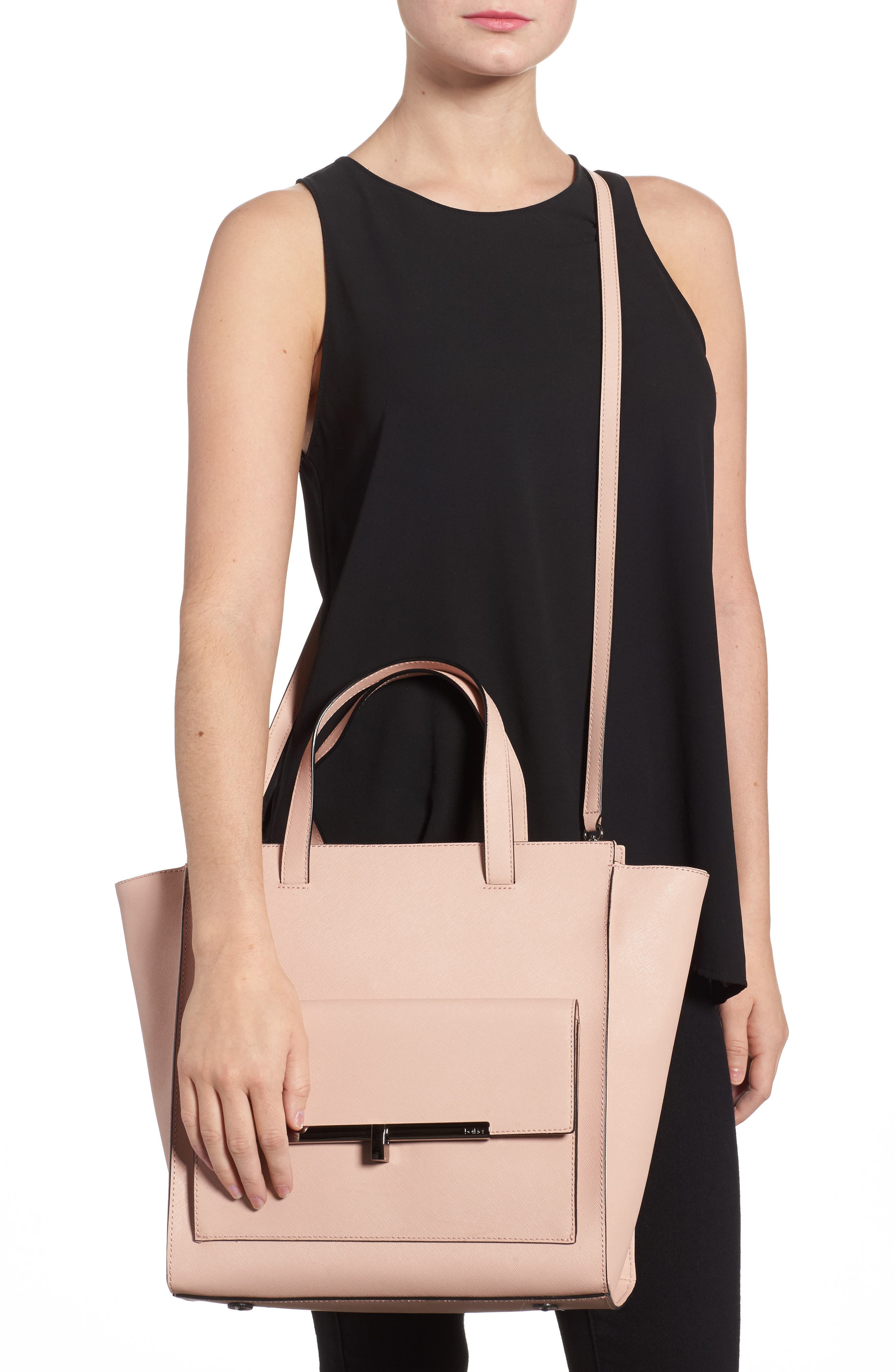 Jagger Leather Tote,                             Alternate thumbnail 2, color,                             Blush