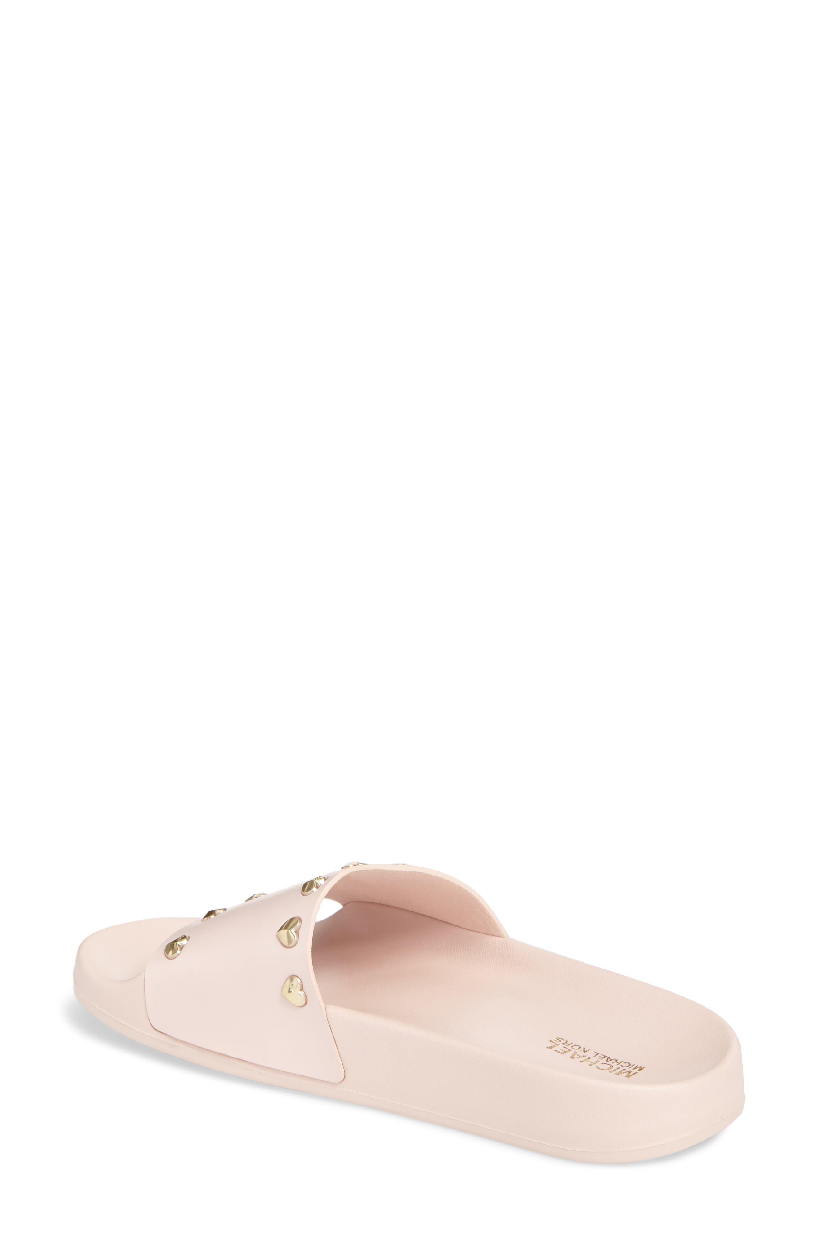 Zooey Slide Sandal,                             Alternate thumbnail 2, color,                             Soft Pink