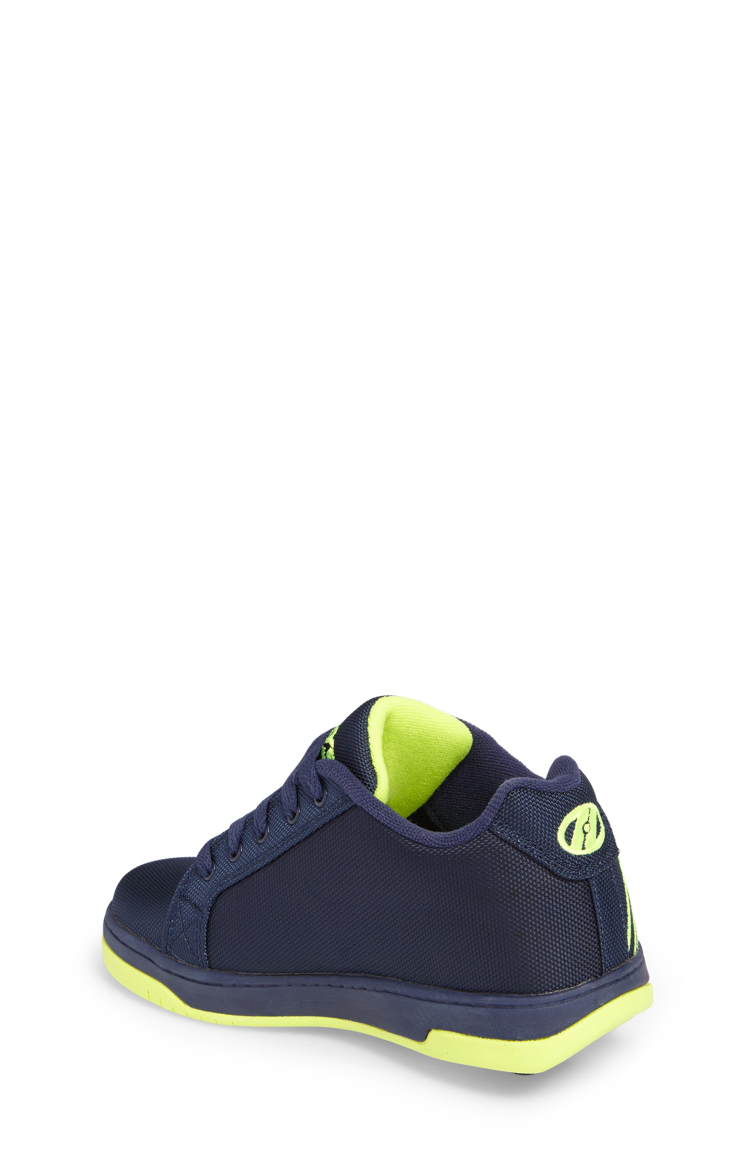 Split Logo Wheeled Skate Sneaker,                             Alternate thumbnail 2, color,                             Navy/ Bright Yellow