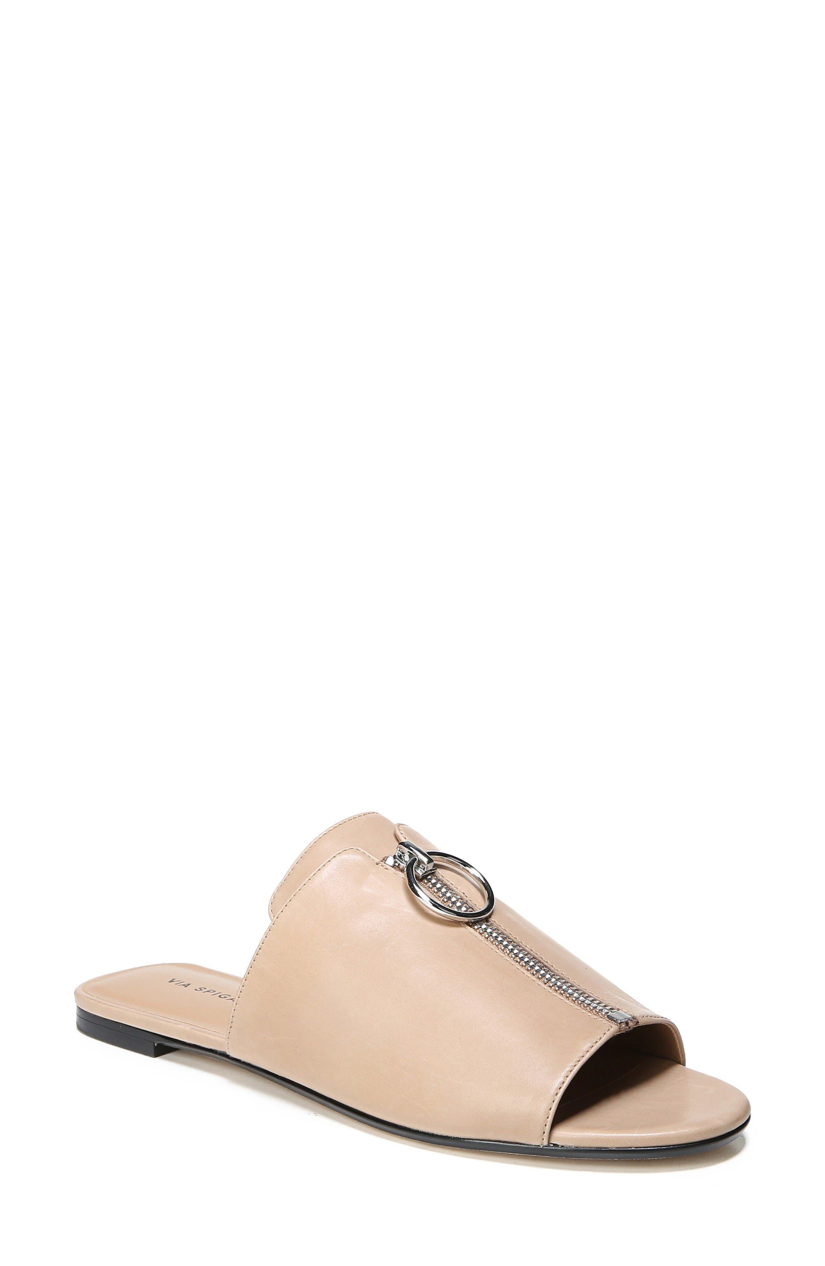 Hope Slide Sandal,                             Main thumbnail 1, color,                             Desert Leather