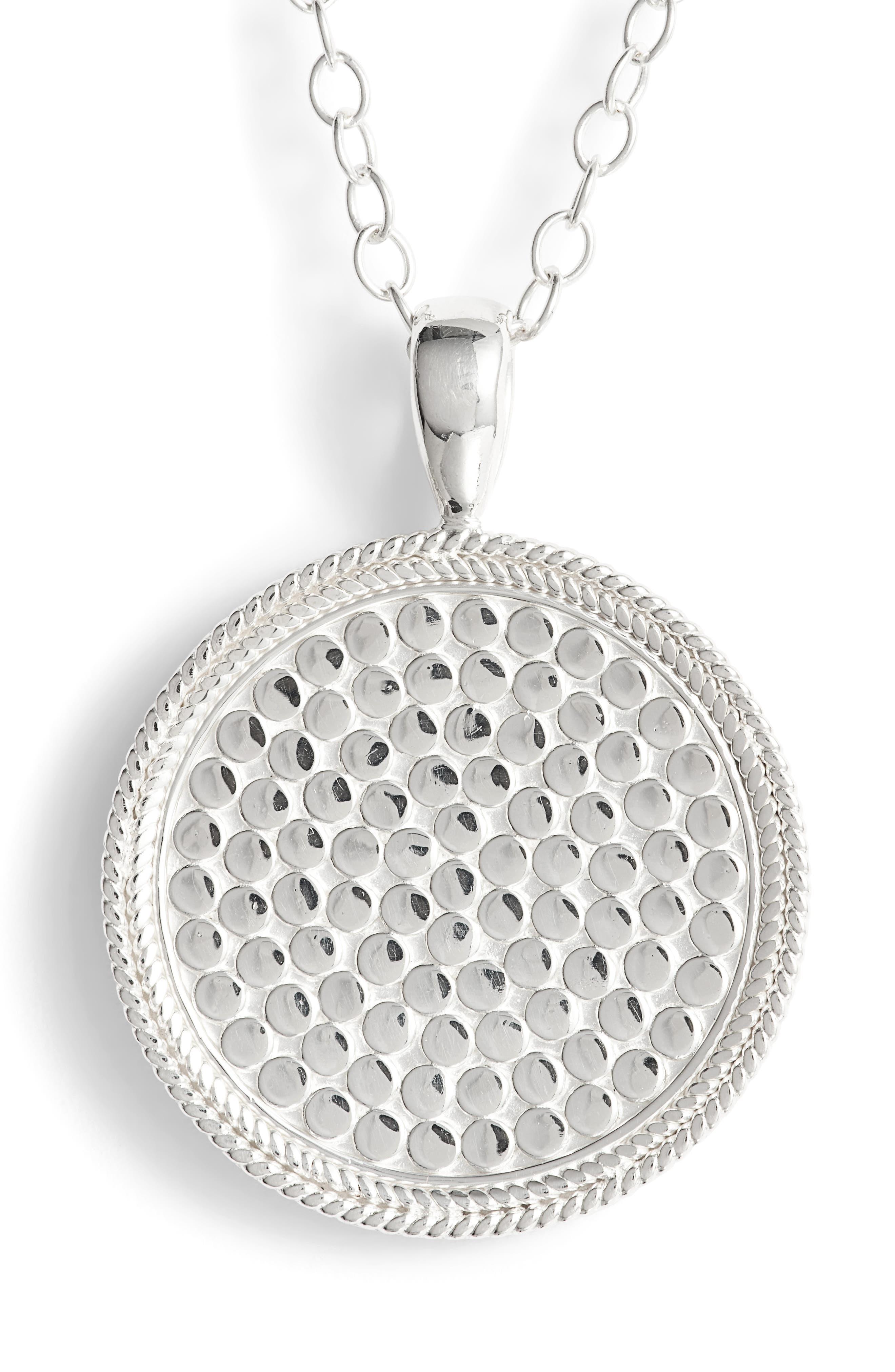 'Gili' Pendant Necklace,                             Alternate thumbnail 4, color,                             Silver