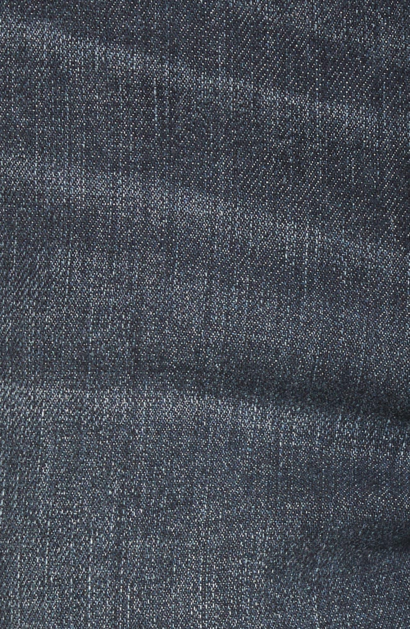 Alternate Image 5  - 1822 Denim Distressed Skinny Jeans (Palin)