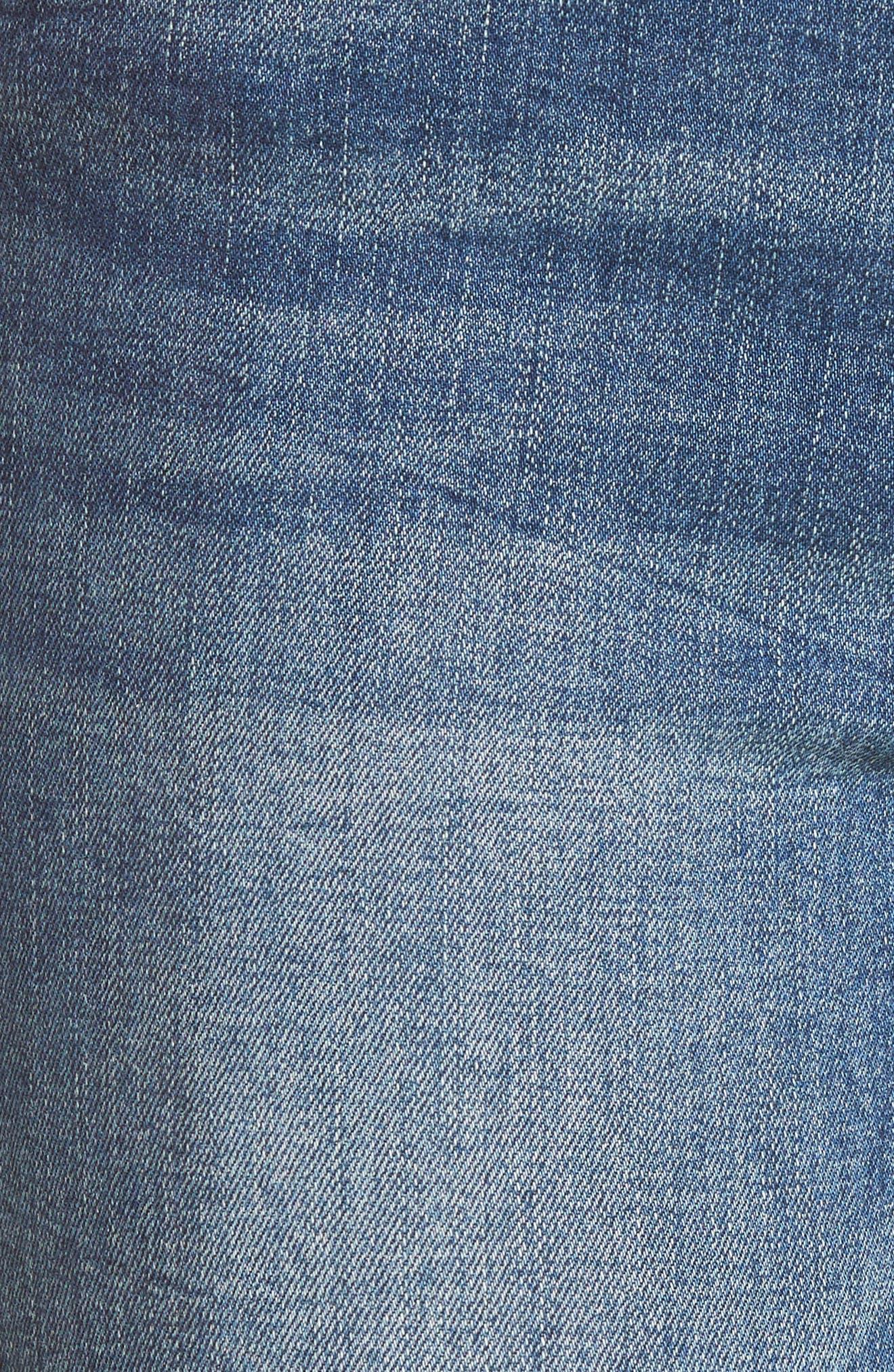 Cry Baby Raw Hem High Waist Skinny Jeans,                             Alternate thumbnail 6, color,                             Sake Bomb