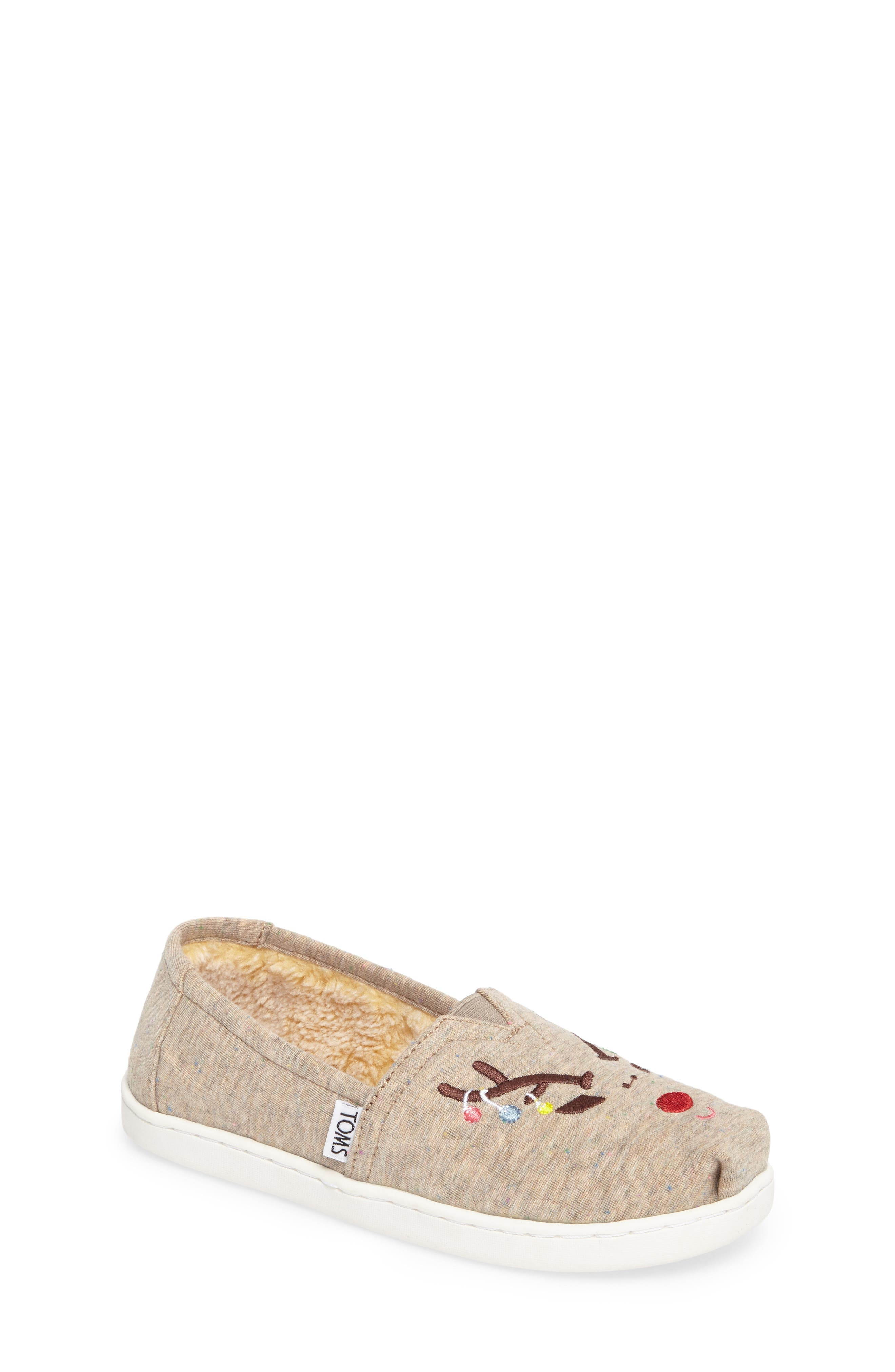 TOMS Classic Reindeer Embroidered Slip-On (Toddler, Little Kid & Big Kid)