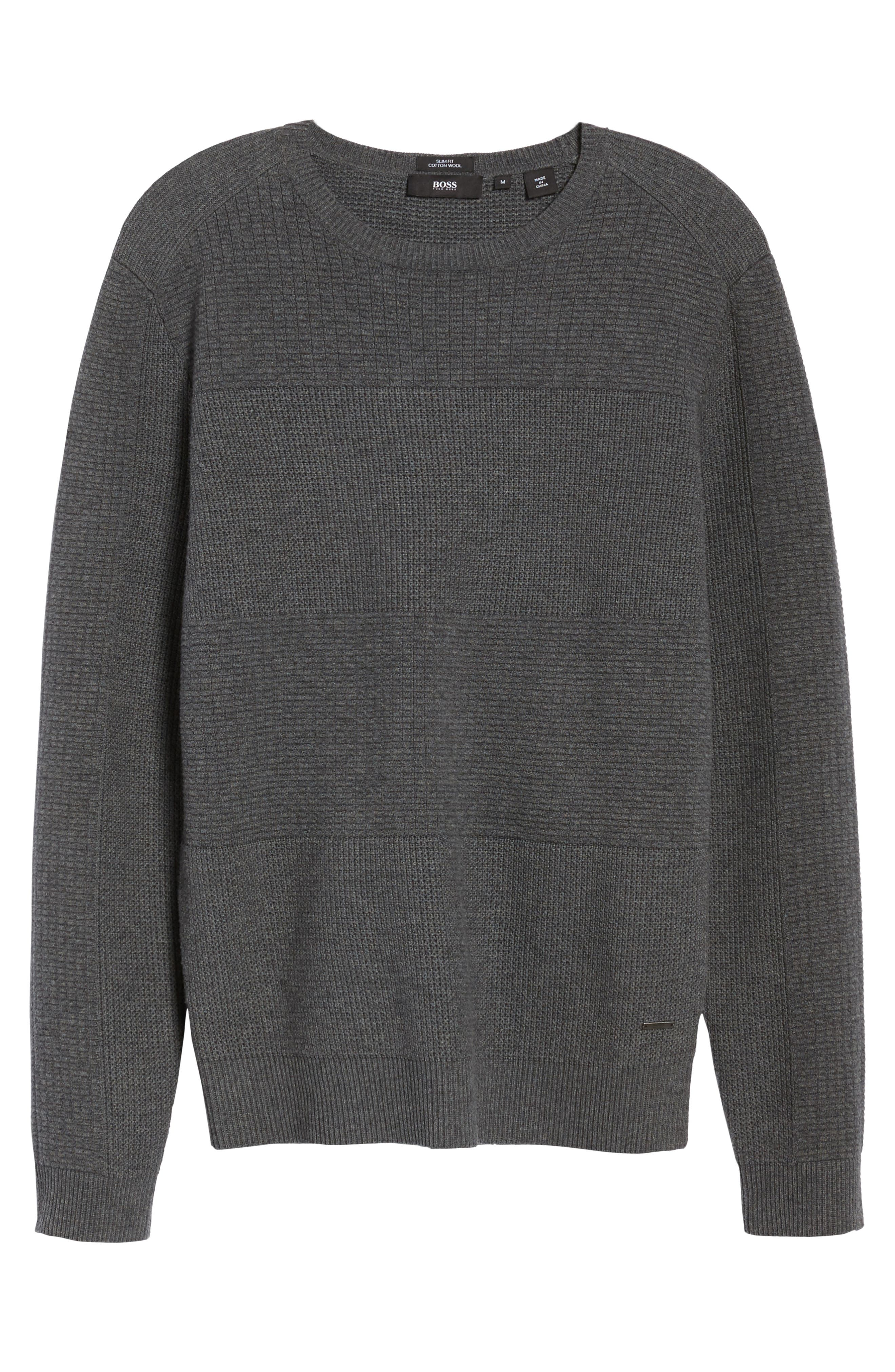 Naranjo Wool & Cotton Sweater,                             Alternate thumbnail 6, color,                             Grey