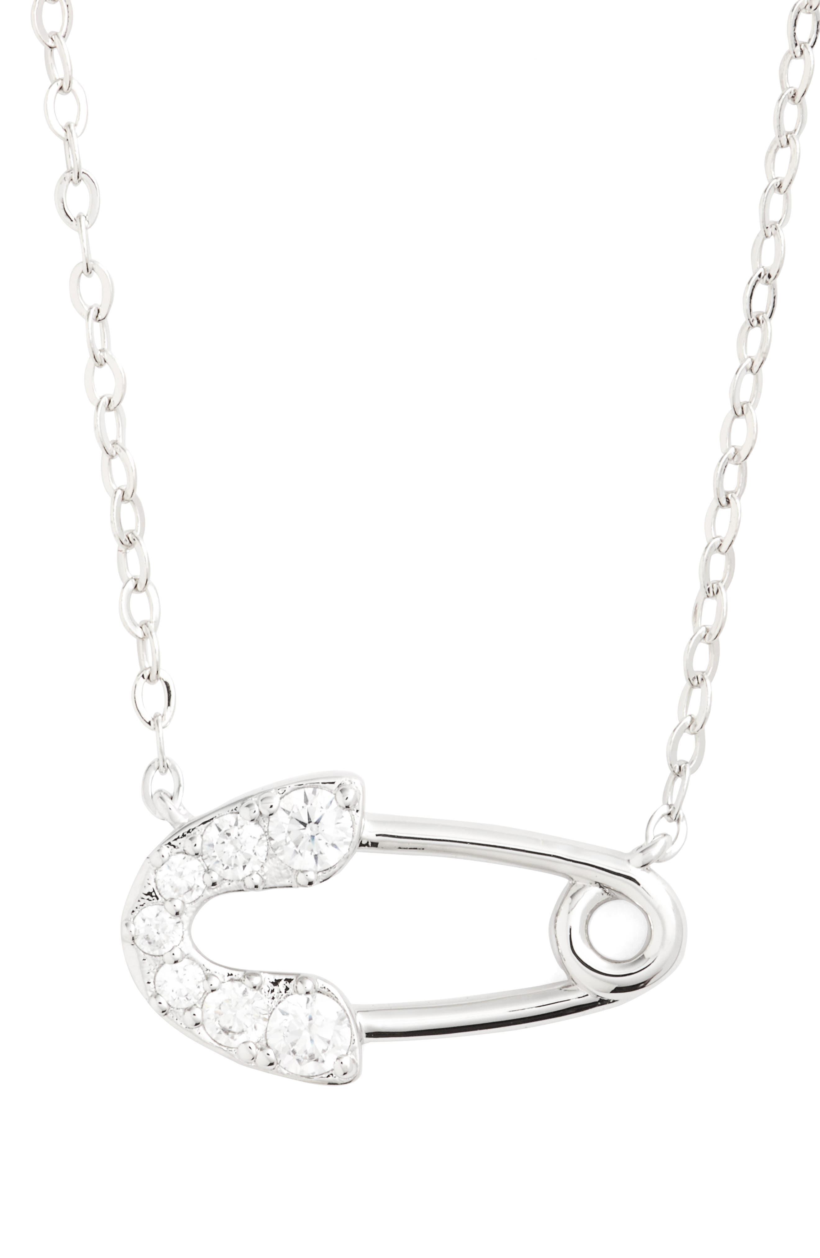Main Image - Nadri Reminisce Crystal Safety Pin Pendant Necklace