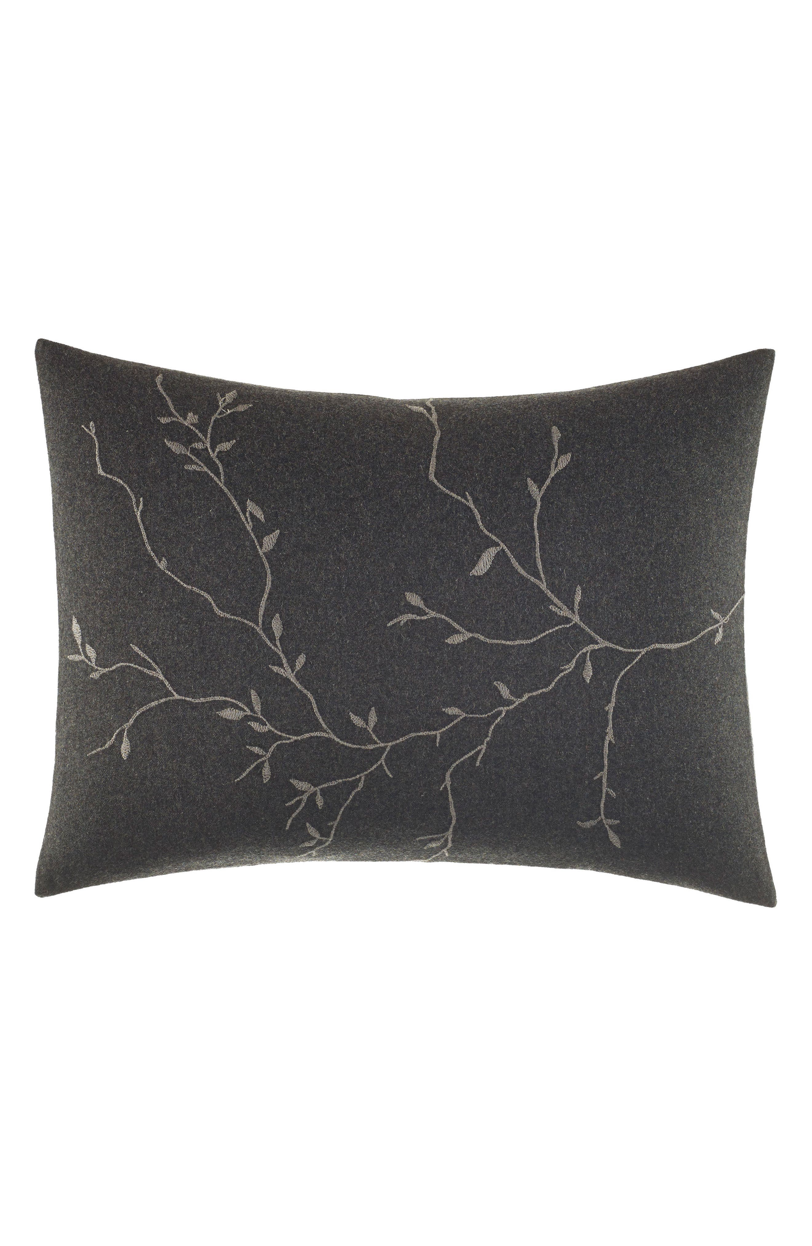 Vera Wang Charcoal Floral Vine Accent Pillow