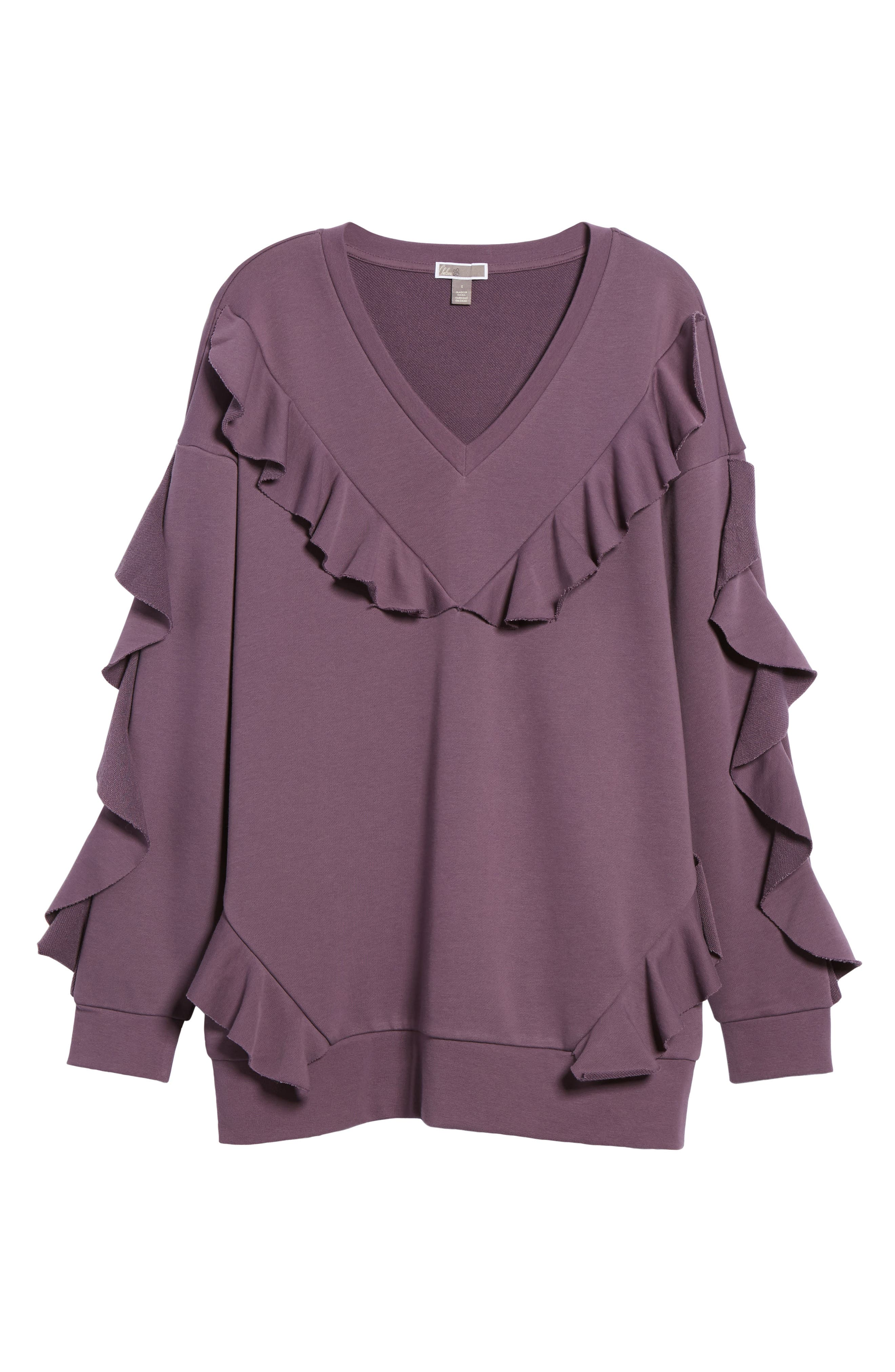Alternate Image 6  - Chelsea28 Ruffle Sweatshirt