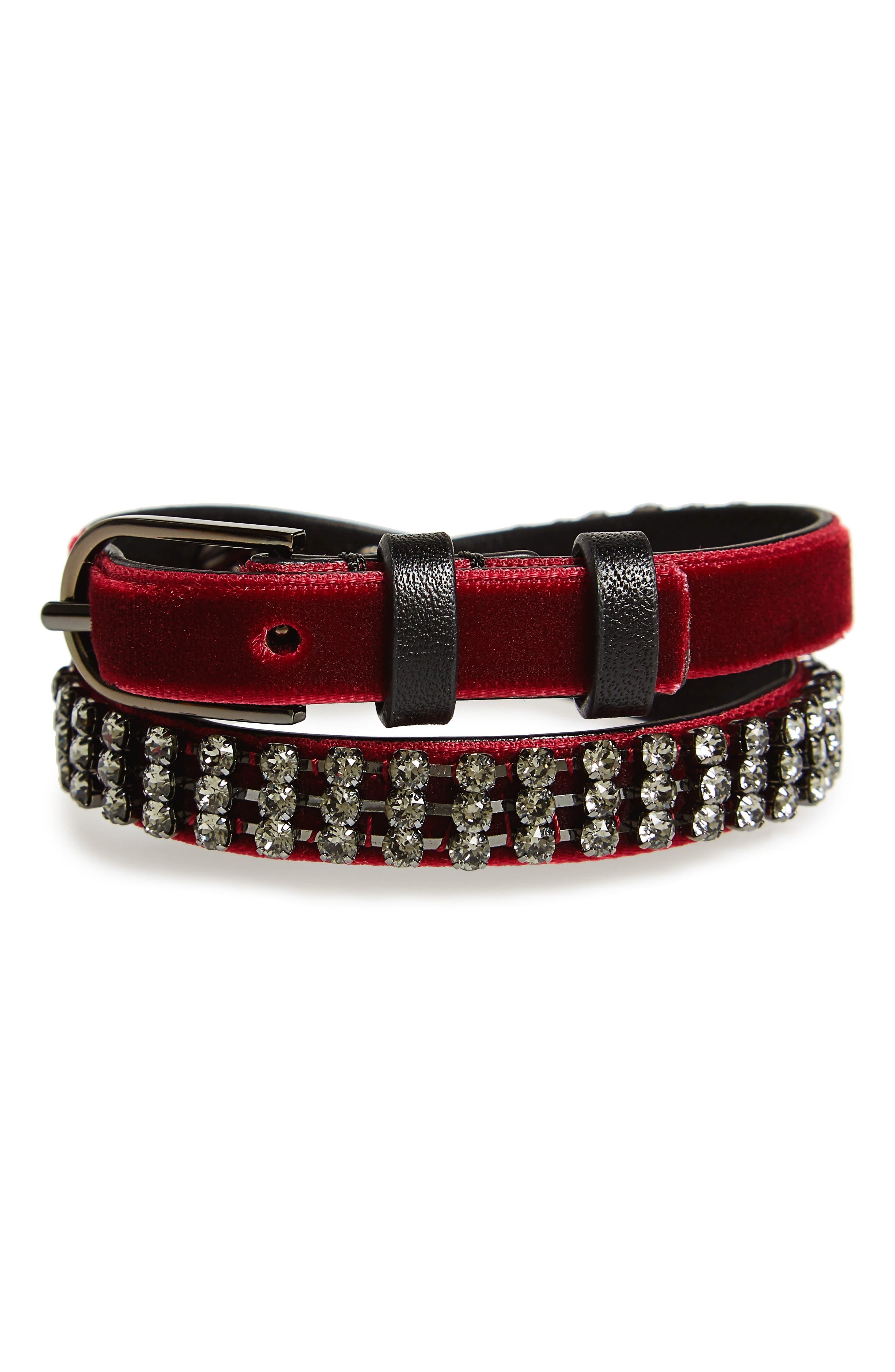 Alternate Image 1 Selected - Tory Burch Crystal Wrap Bracelet