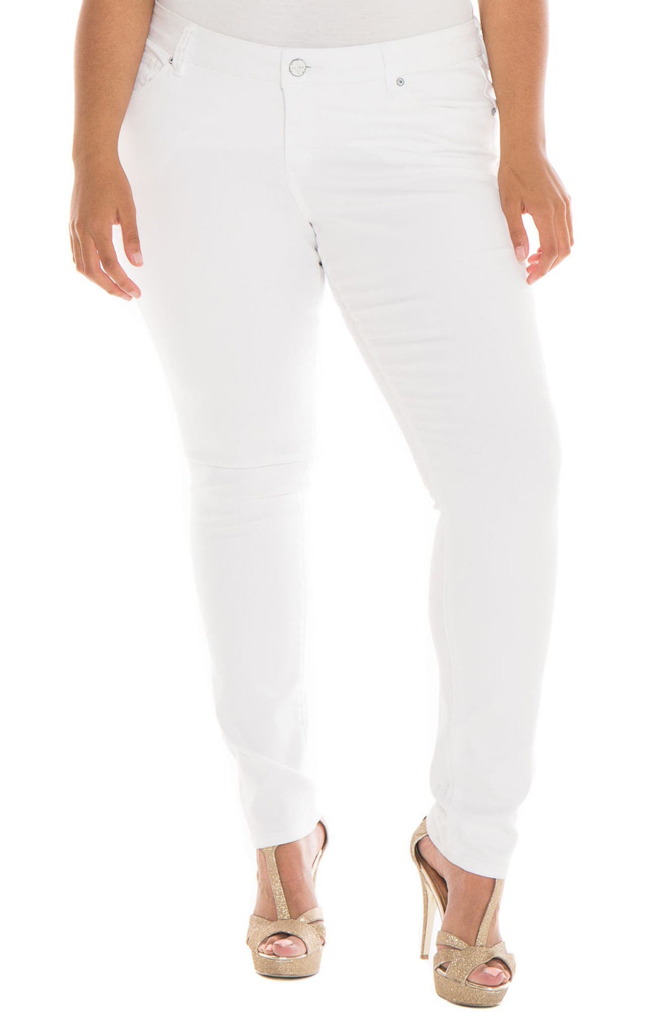 Alternate Image 1 Selected - SLINK Jeans Skinny Jeans (Charlie) (Plus Size)