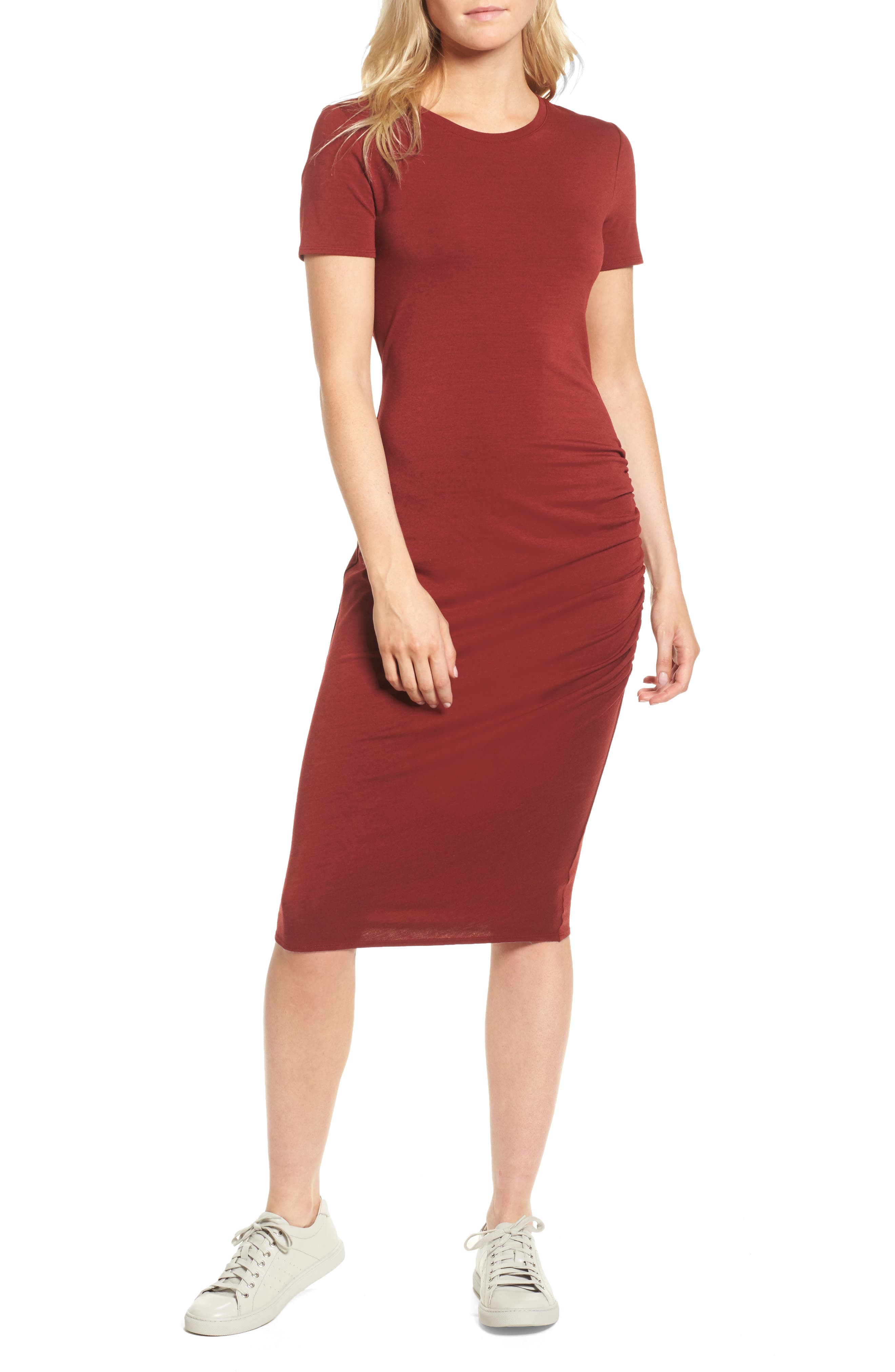 Alternate Image 1 Selected - Treasure & Bond Side Ruched Body-Con Dress