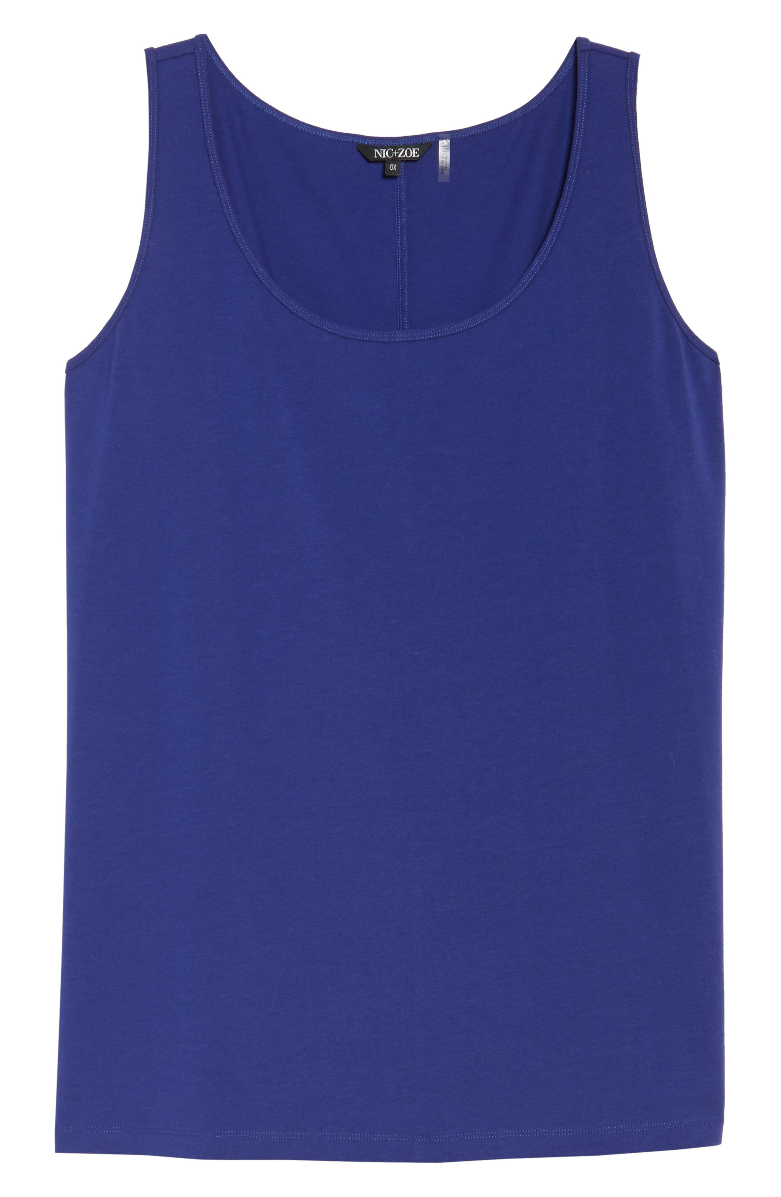 Perfect Scoop Neck Tank,                             Alternate thumbnail 6, color,                             Electric Blue