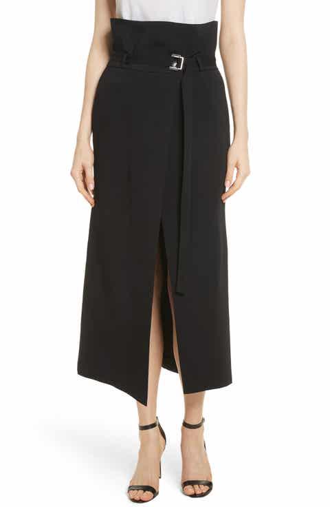 Robert Rodriguez Paperbag Waist Split Front Skirt