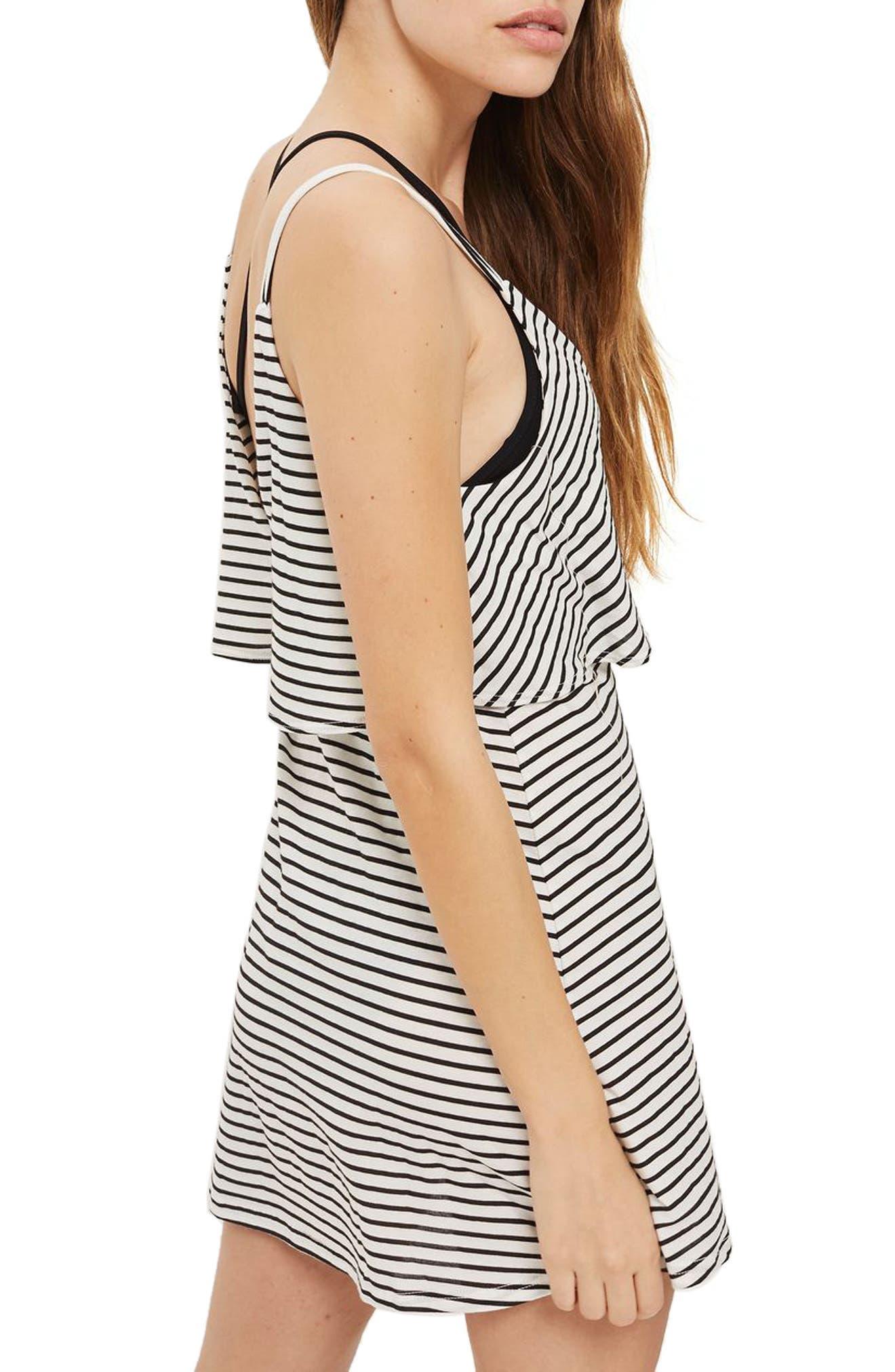 Stripe Wrap Sundress,                             Alternate thumbnail 2, color,                             White Multi