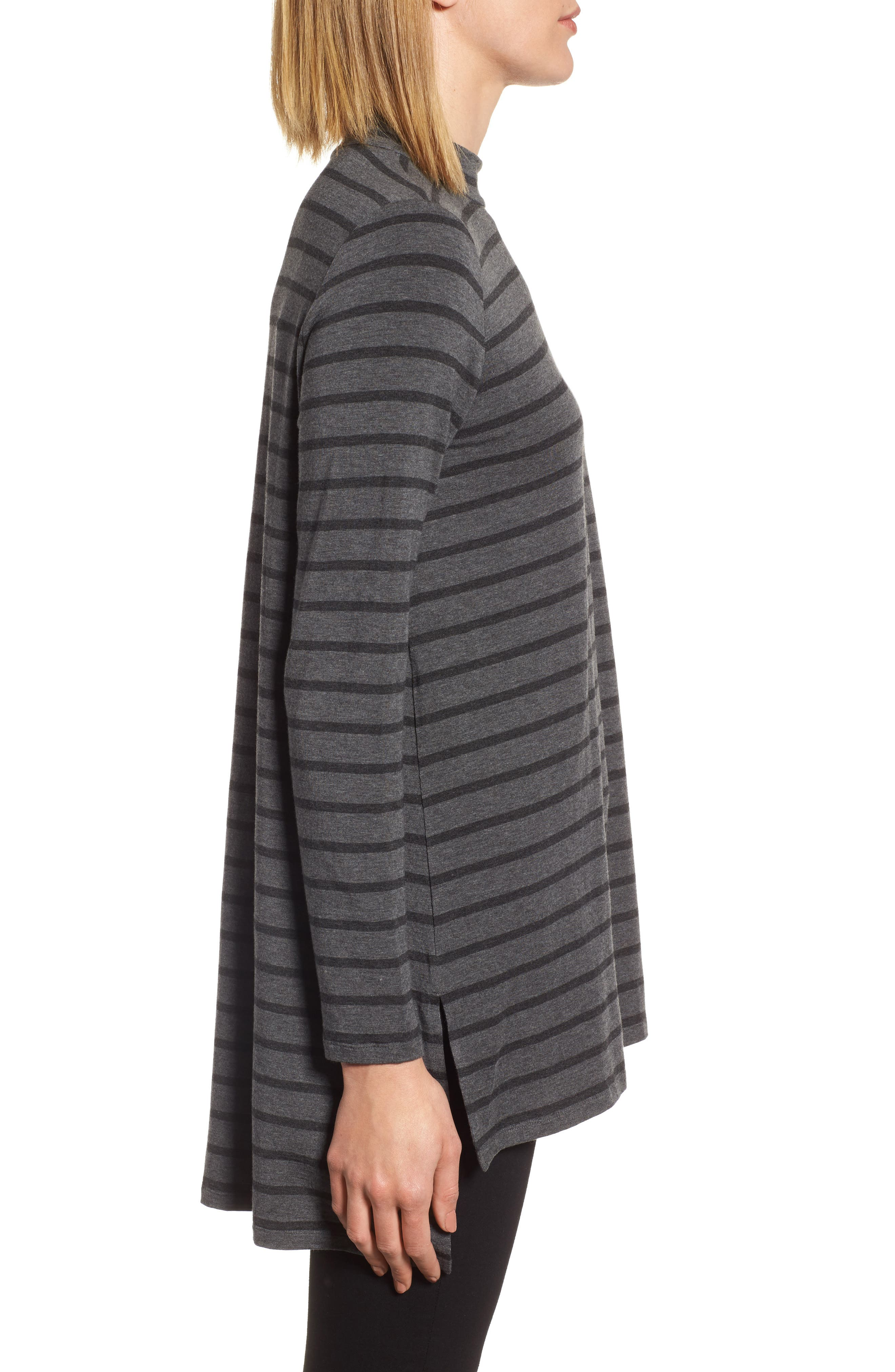 Alternate Image 3  - Eileen Fisher Stripe Stretch Tencel® Tunic