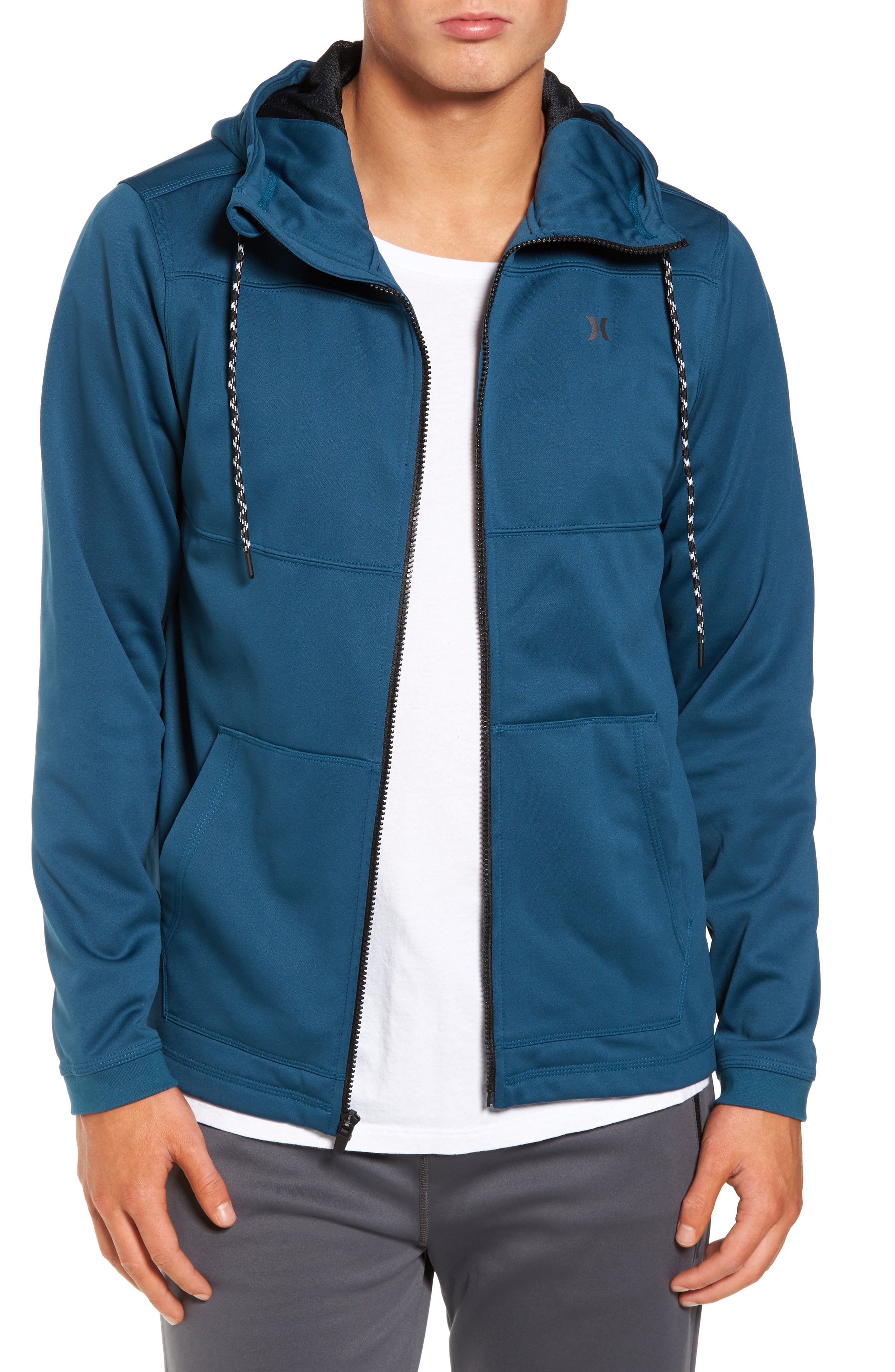Therma Protect Zip Hoodie,                             Main thumbnail 1, color,                             Space Blue