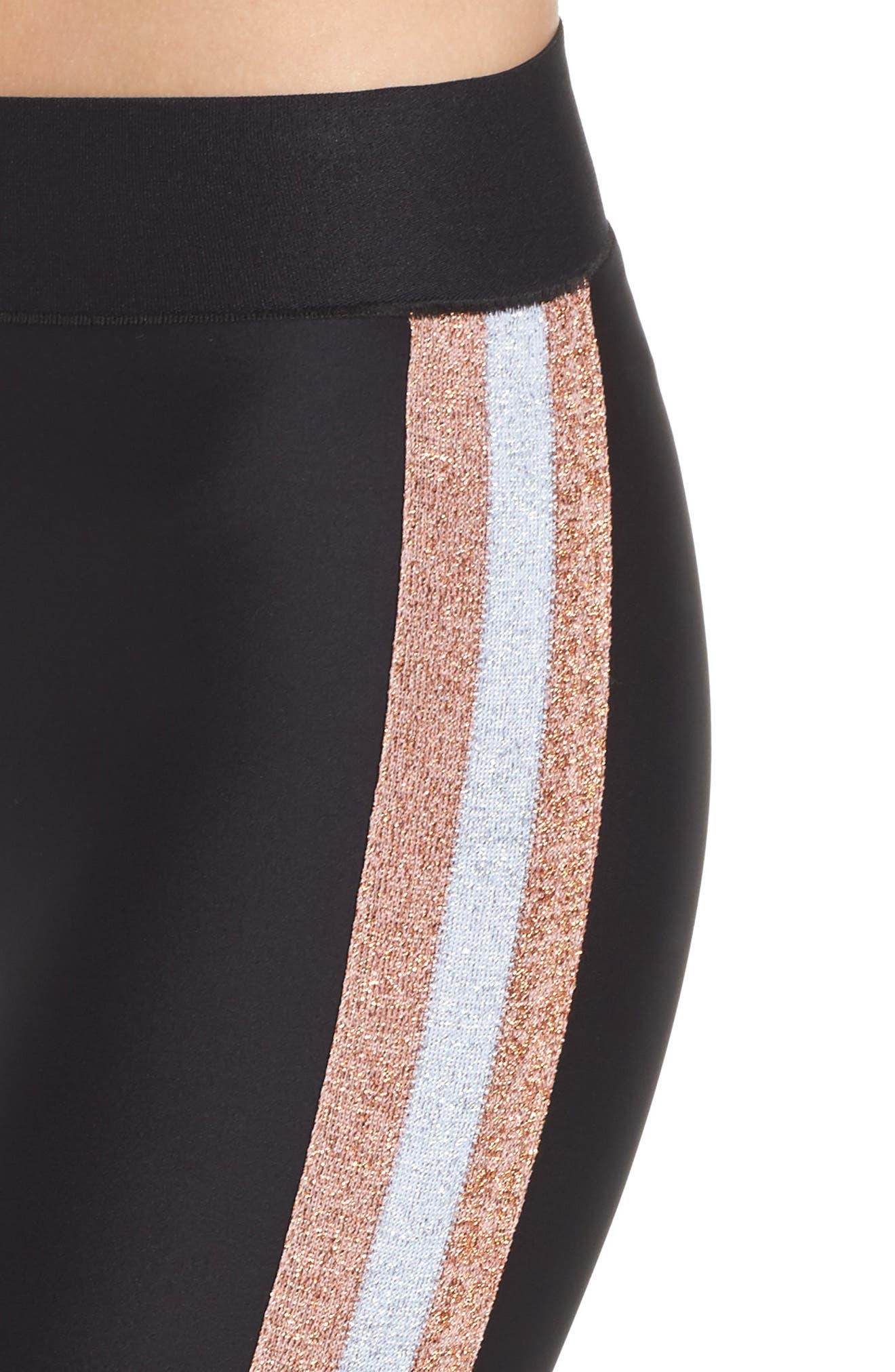 Ultra Lux Collegiate Leggings,                             Alternate thumbnail 4, color,                             Nero Rose Silver