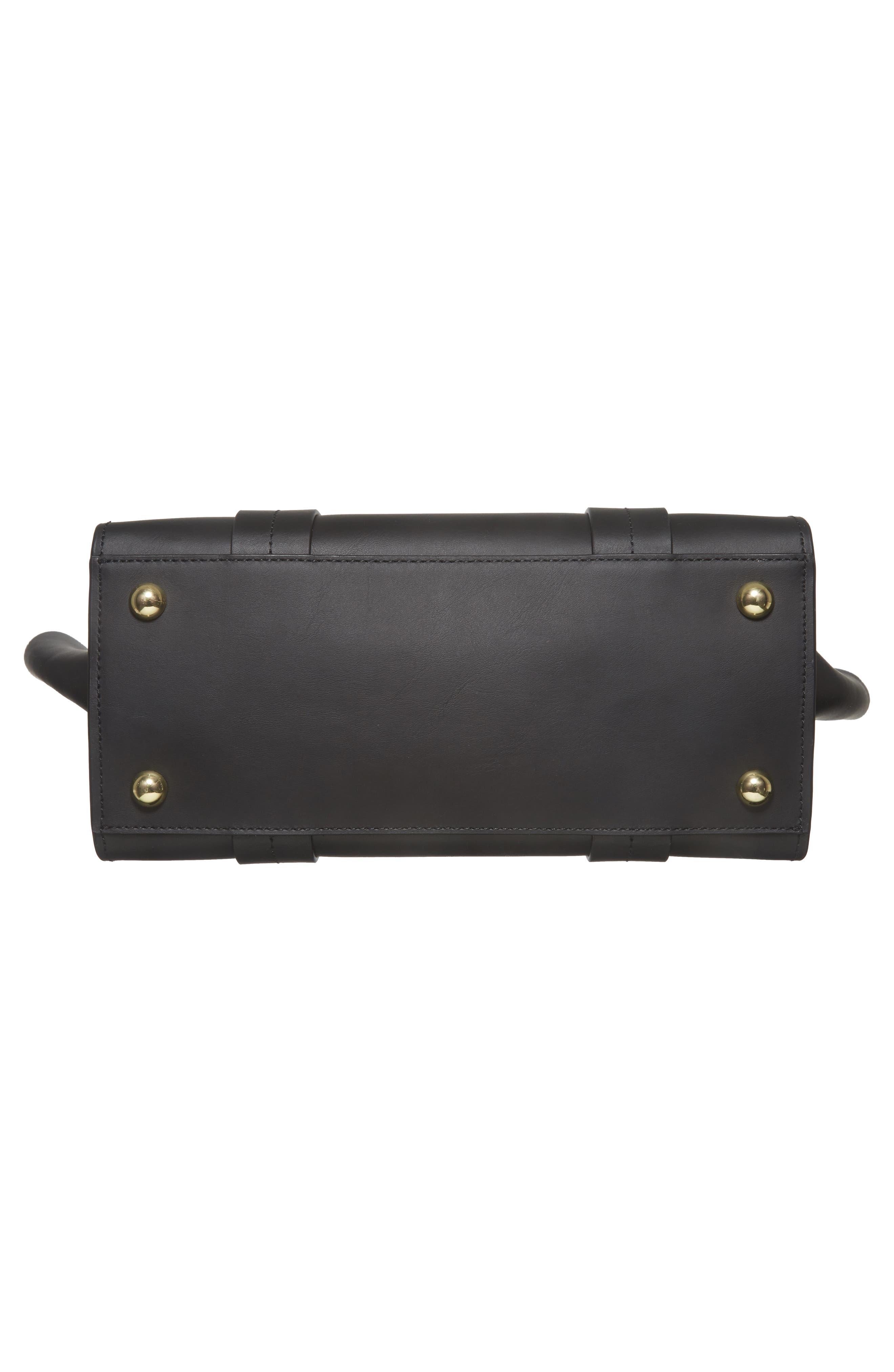 ZAC Zac Posen Eartha Iconic Calfskin Leather Double Handle Satchel,                             Alternate thumbnail 6, color,                             Black