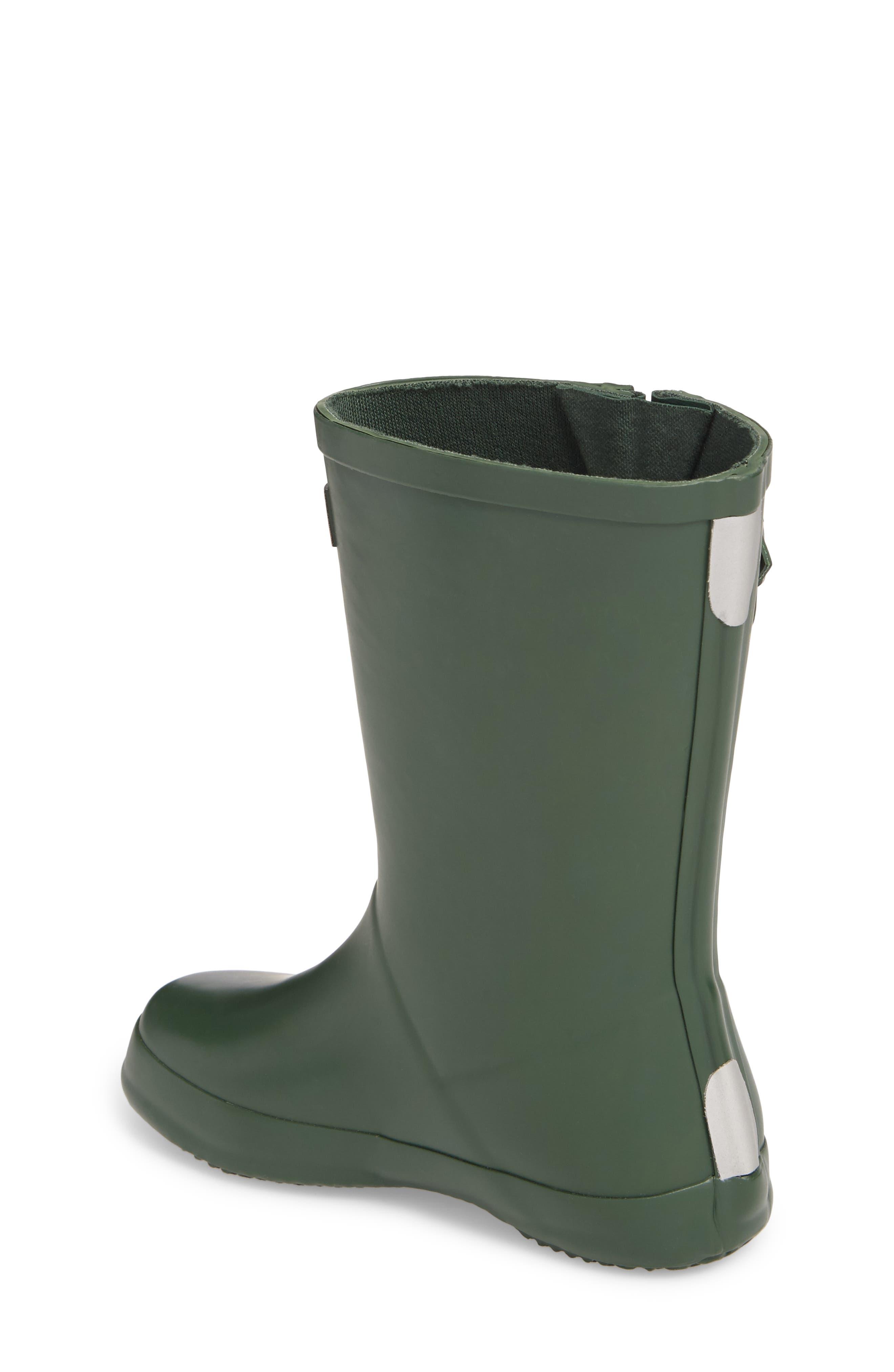 Buckle Strap Rain Boot,                             Alternate thumbnail 2, color,                             Green