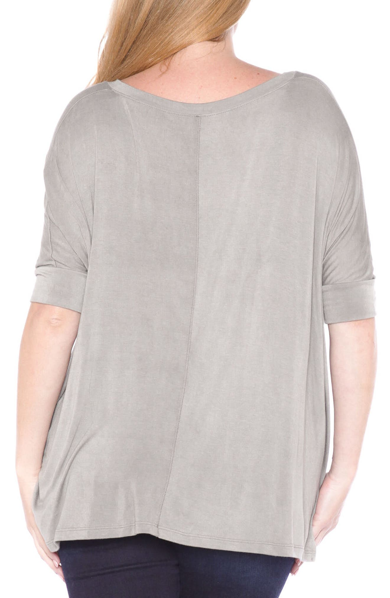 Dolman Sleeve Top,                             Alternate thumbnail 2, color,                             Greystone