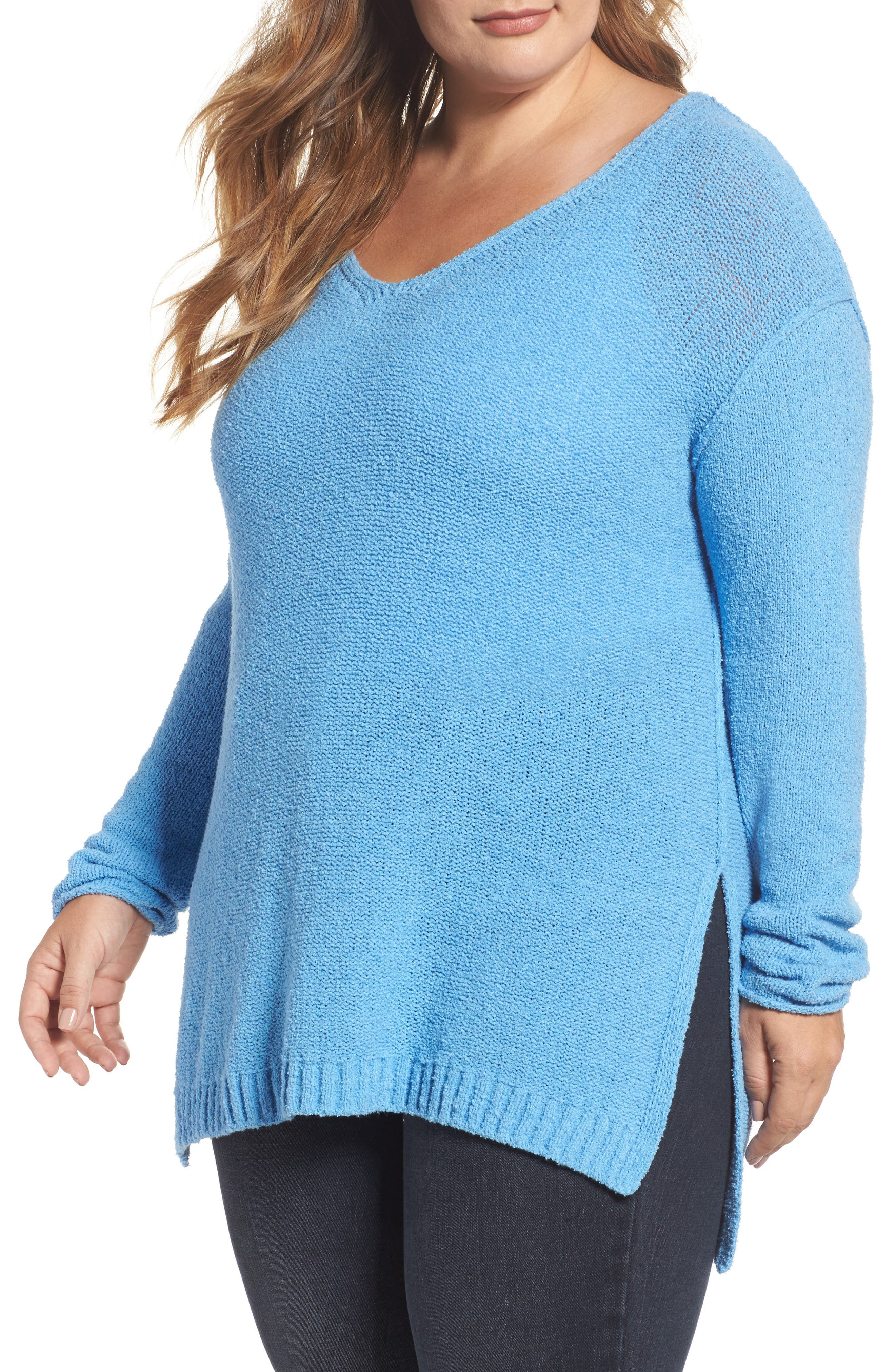Alternate Image 1 Selected - Caslon® Tunic Sweater (Plus Size)