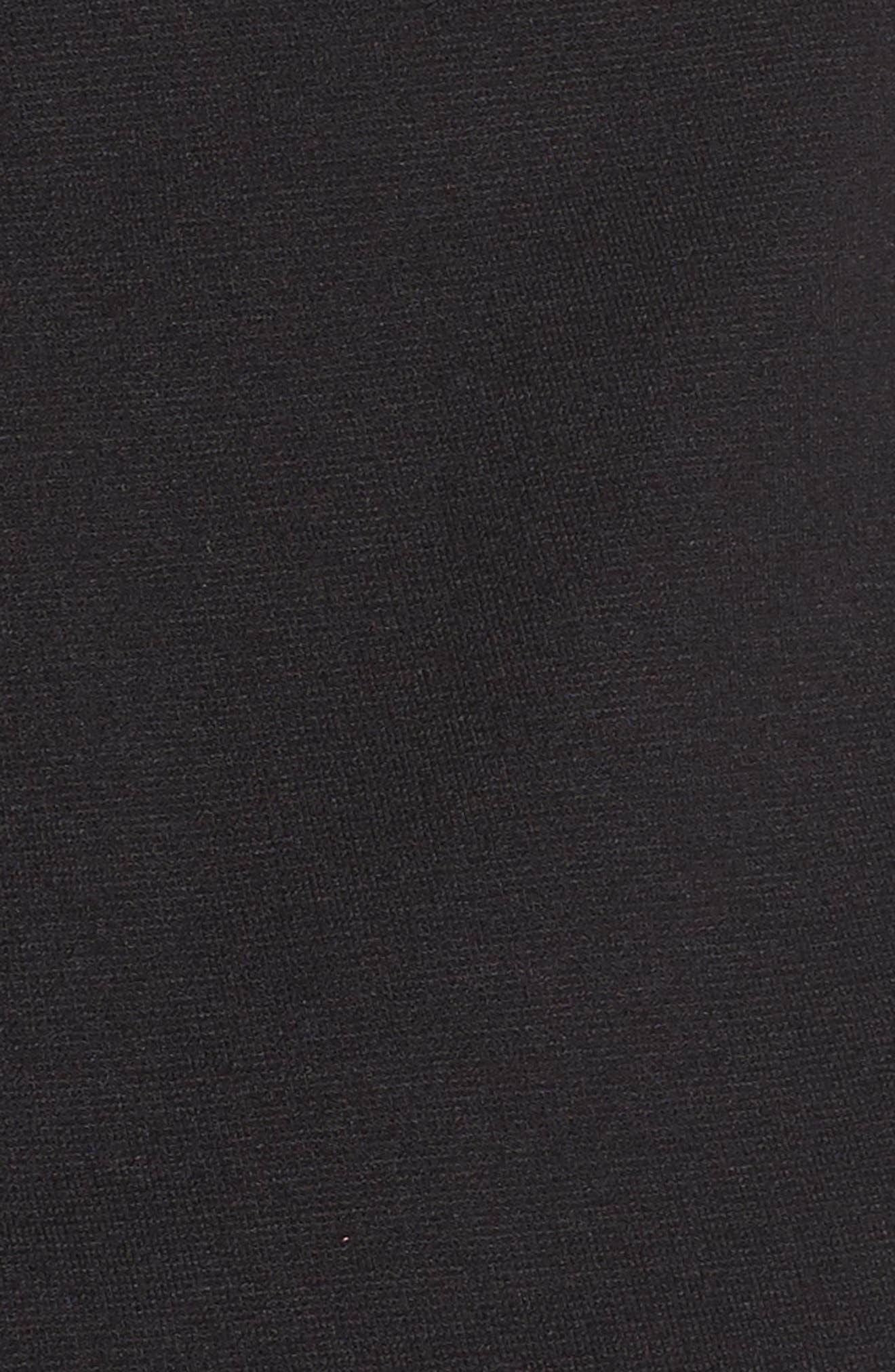 Strappy Body-Con Dress,                             Alternate thumbnail 5, color,                             Black