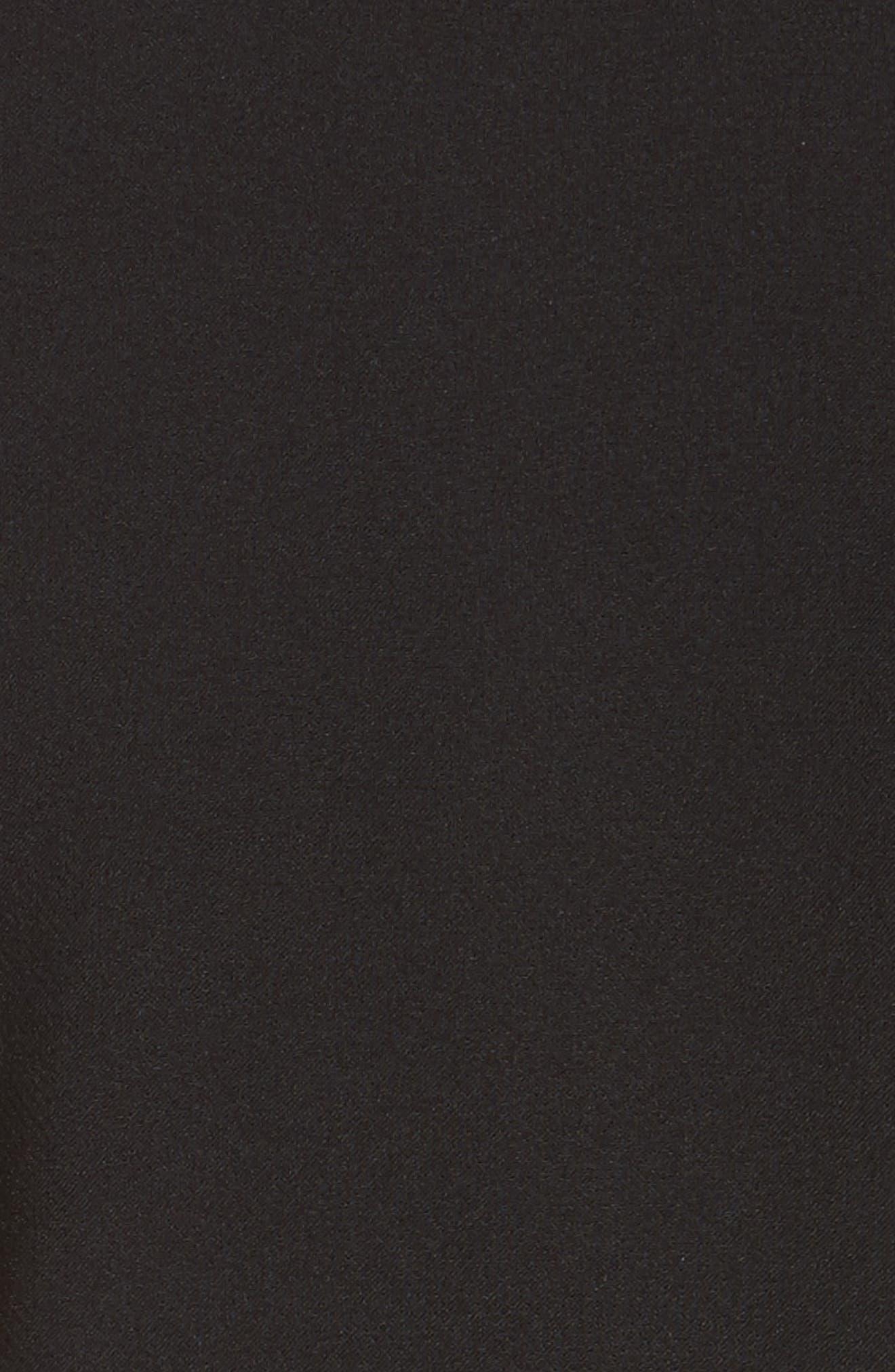 Sabine Stretch Cady Sheath Dress,                             Alternate thumbnail 5, color,                             Black