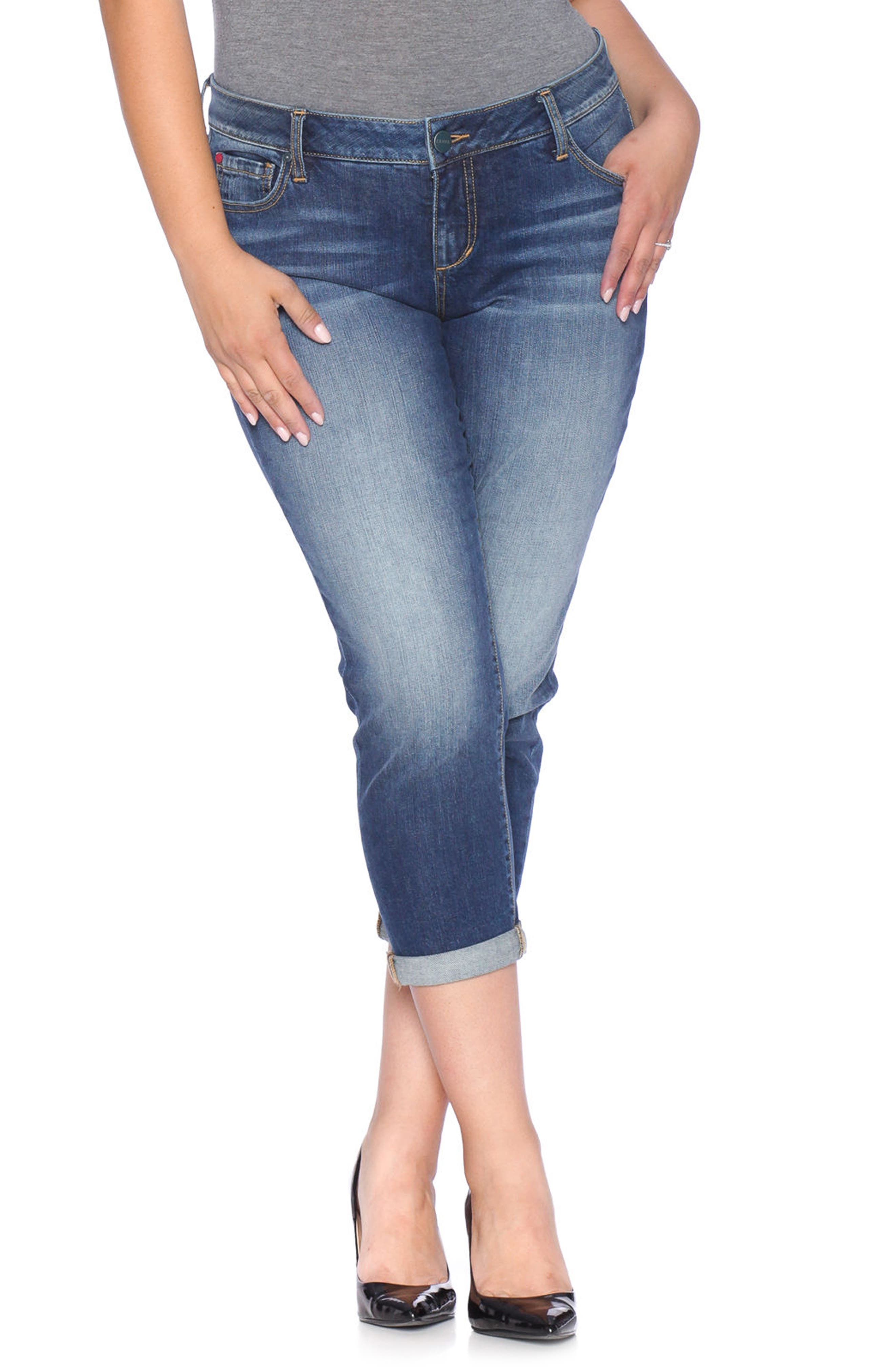 SLINK Jeans Easy Fit Mid-Rise Skinny Jeans (Val) (Plus Size)