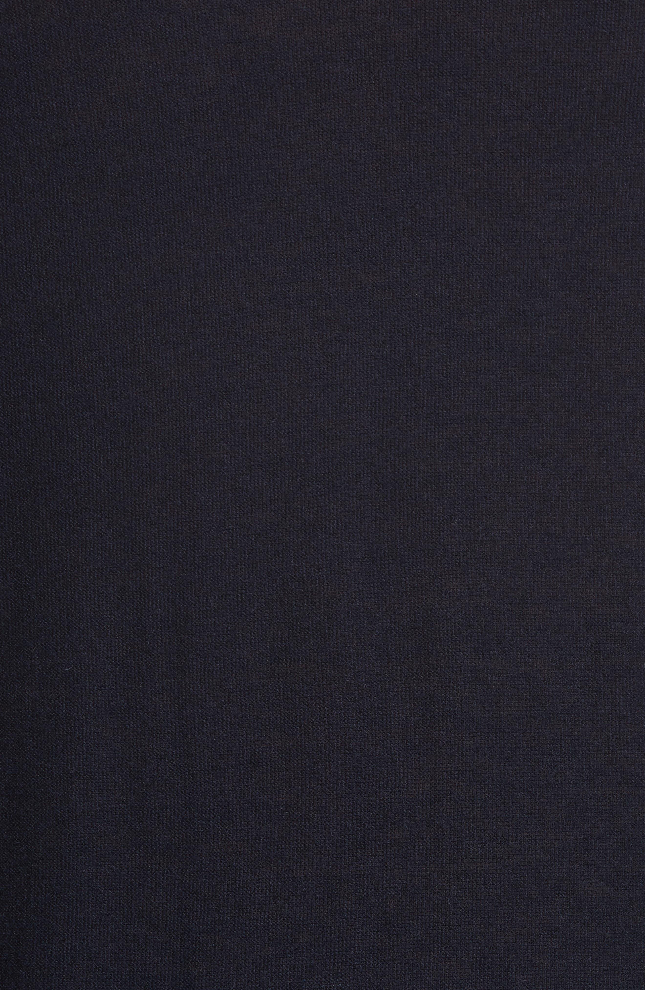 V-Neck Cashair Cashmere Sweater,                             Alternate thumbnail 5, color,                             Navy