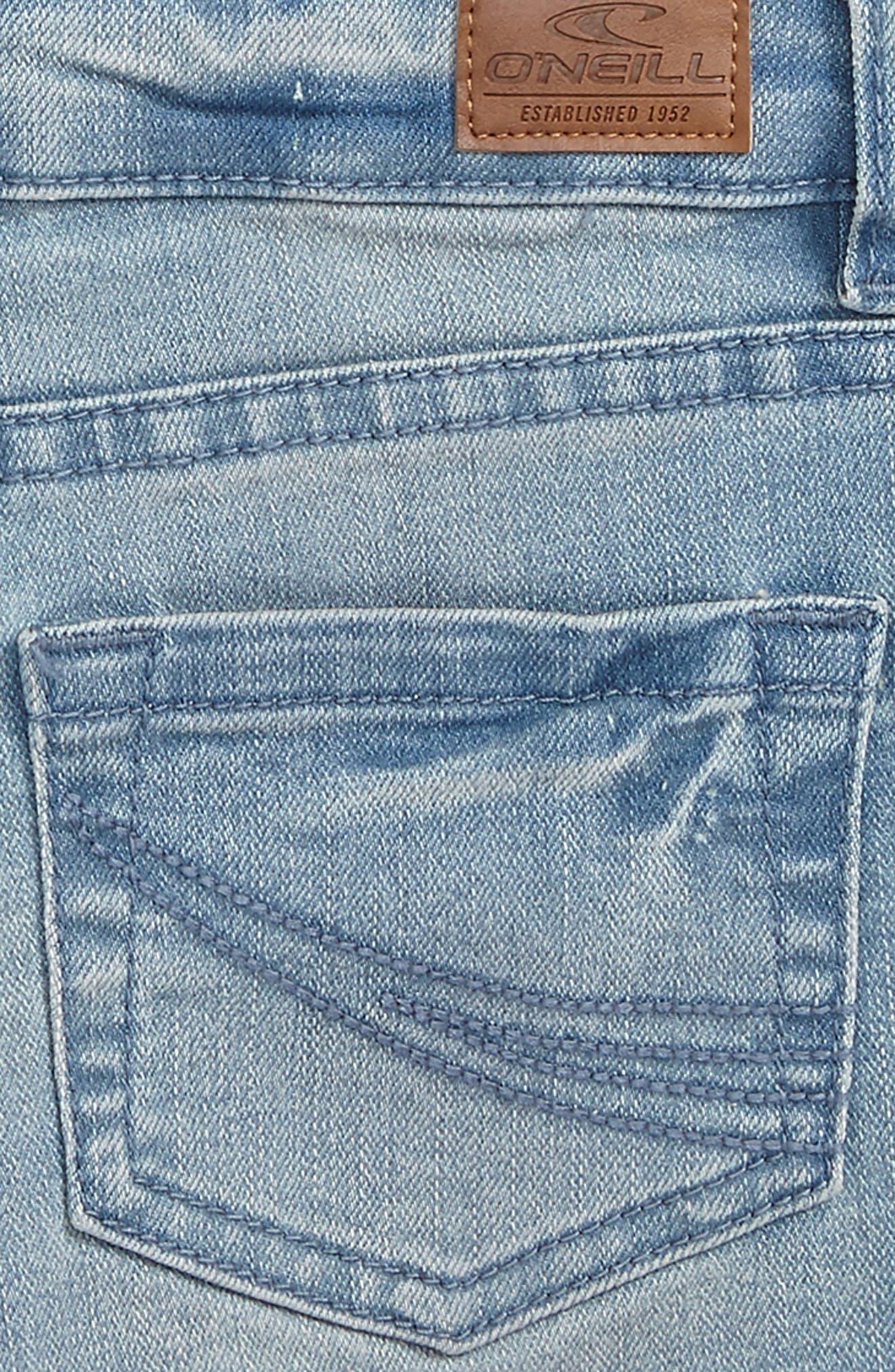 Alternate Image 3  - O'Neiil Waidley Denim Shorts (Big Girls)