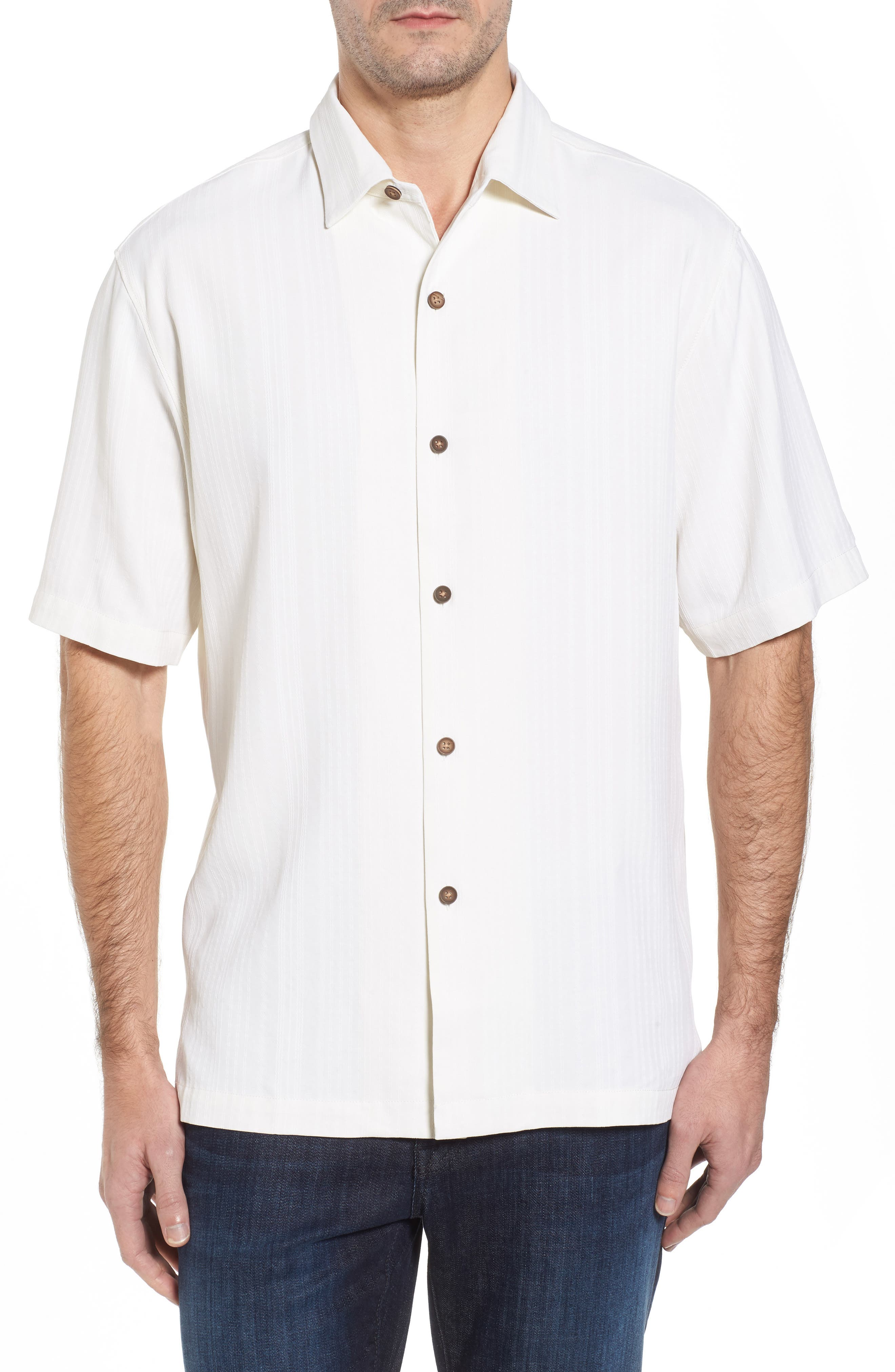Alternate Image 1 Selected - Tommy Bahama Paradise Fairway Silk Camp Shirt