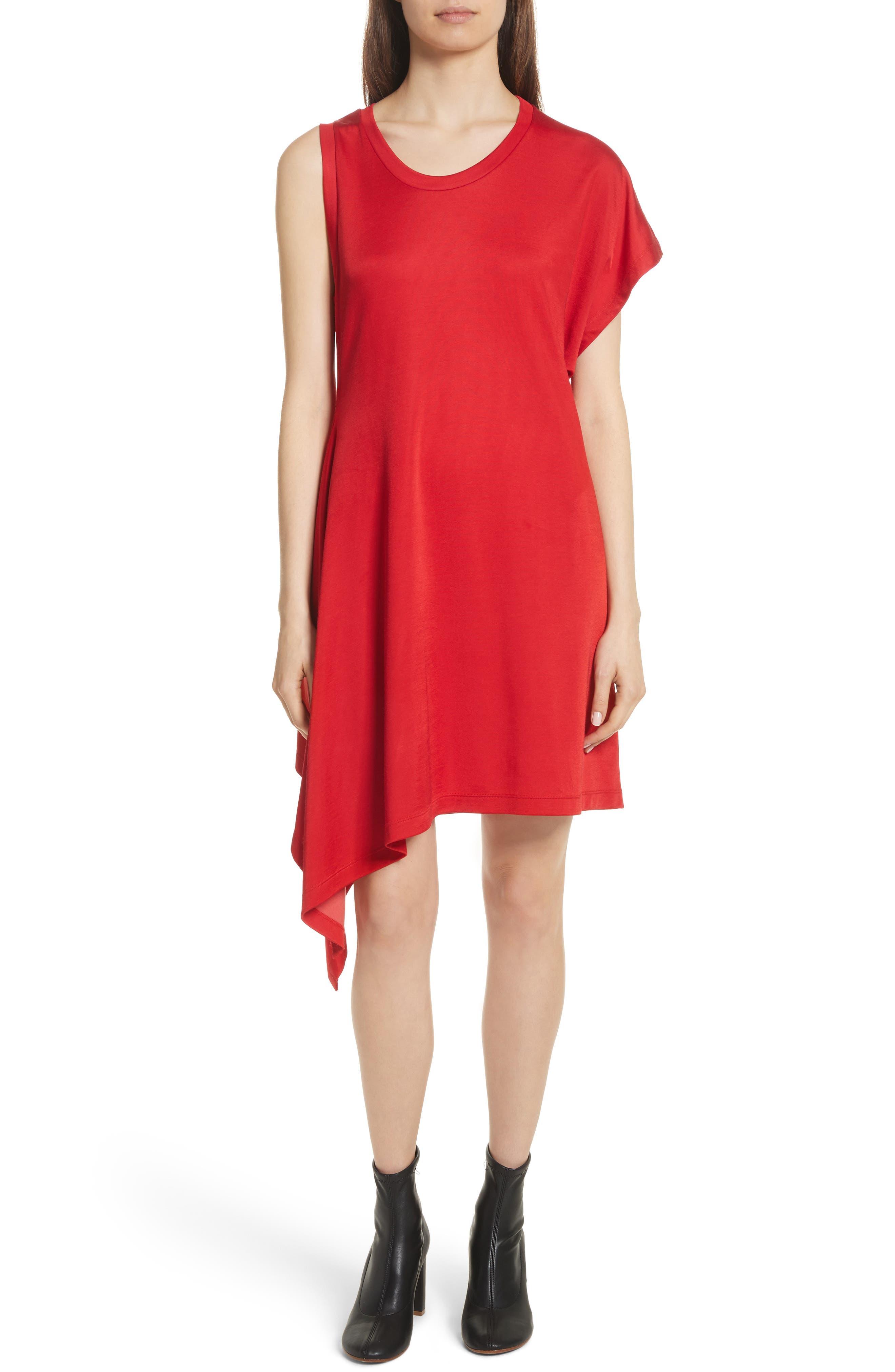 MM6 Maison Margiela Sporty Asymmetrical Jersey Dress