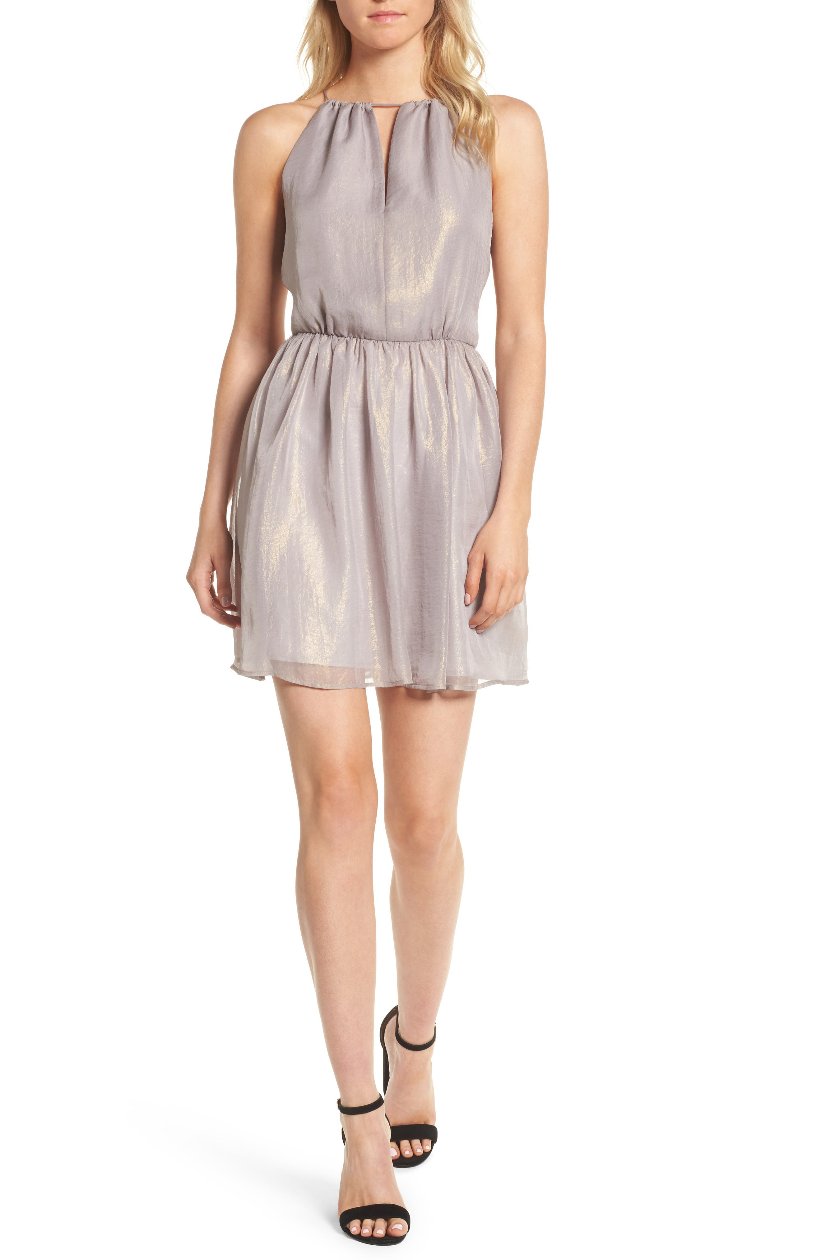 Bayleef Minidress,                         Main,                         color, Gossamer Grey