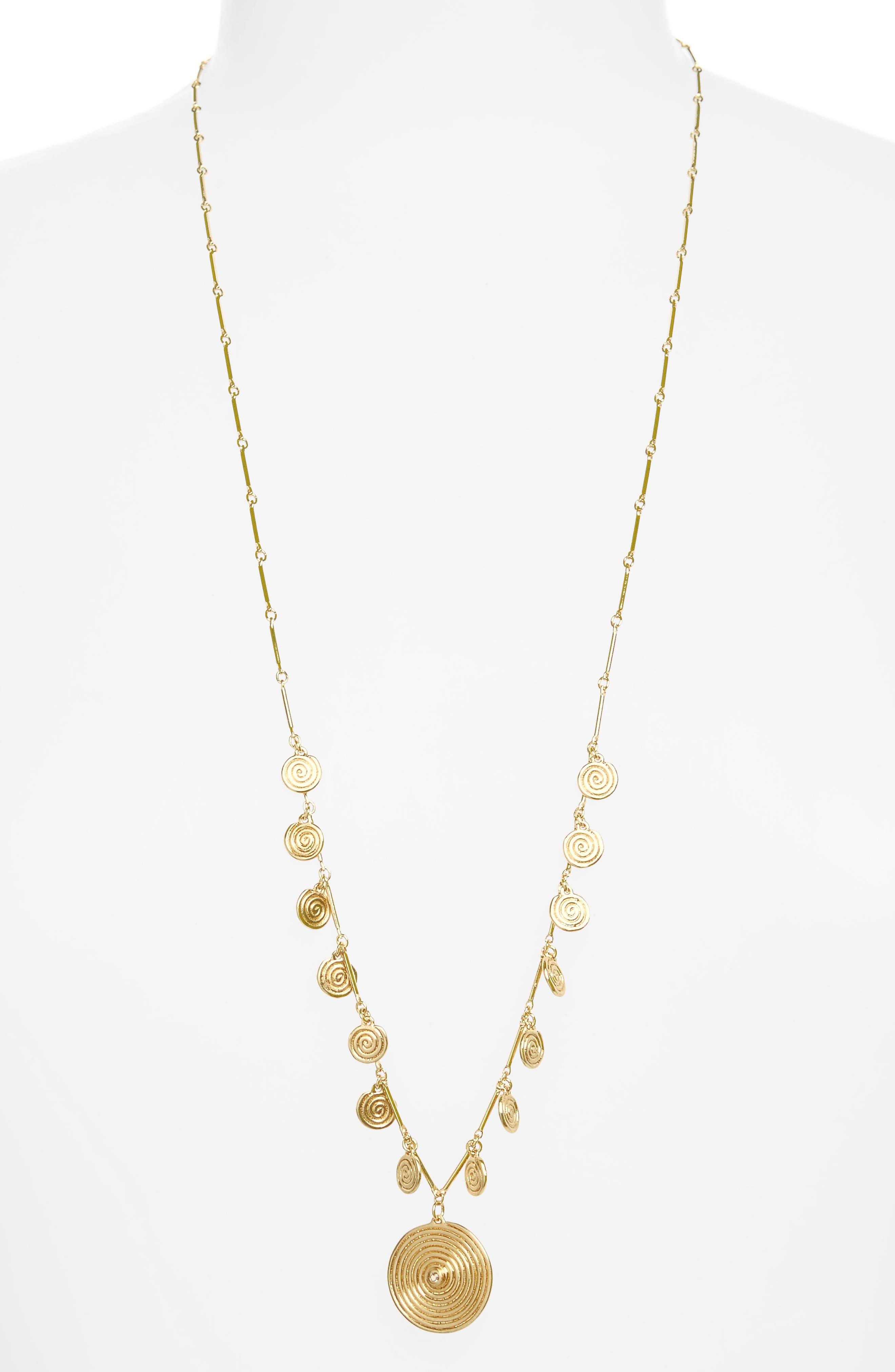 Sullivan - Ashlyn White Topaz Pendant Necklace,                             Main thumbnail 1, color,                             Yellow Gold